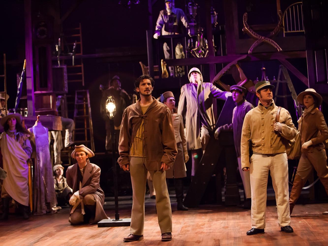 Opening scene of HENRY V at the Colorado Shakespeare Festival, photo by Jennifer Koskinen, Merritt Design Photo
