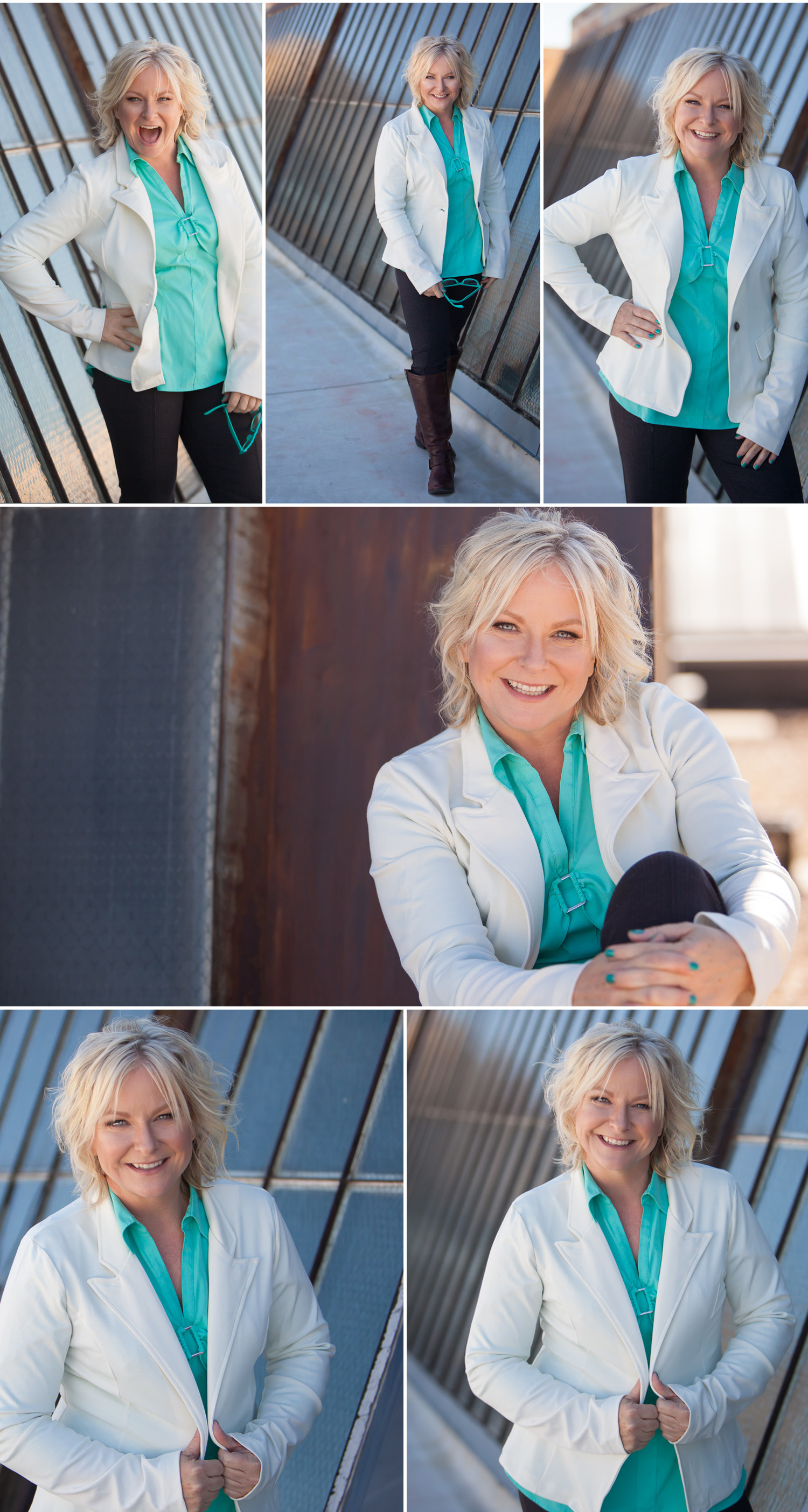 Beautiful blond woman's personal branding portrait session with Denver photographer Jennifer Koskinen | Merritt Design Photo