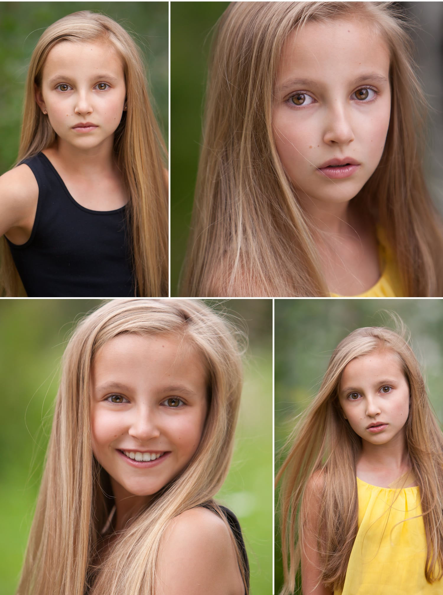 Beautiful set of child actor headshots in natural light, by Denver photographer Jennifer Koskinen | Merritt Portrait Studio
