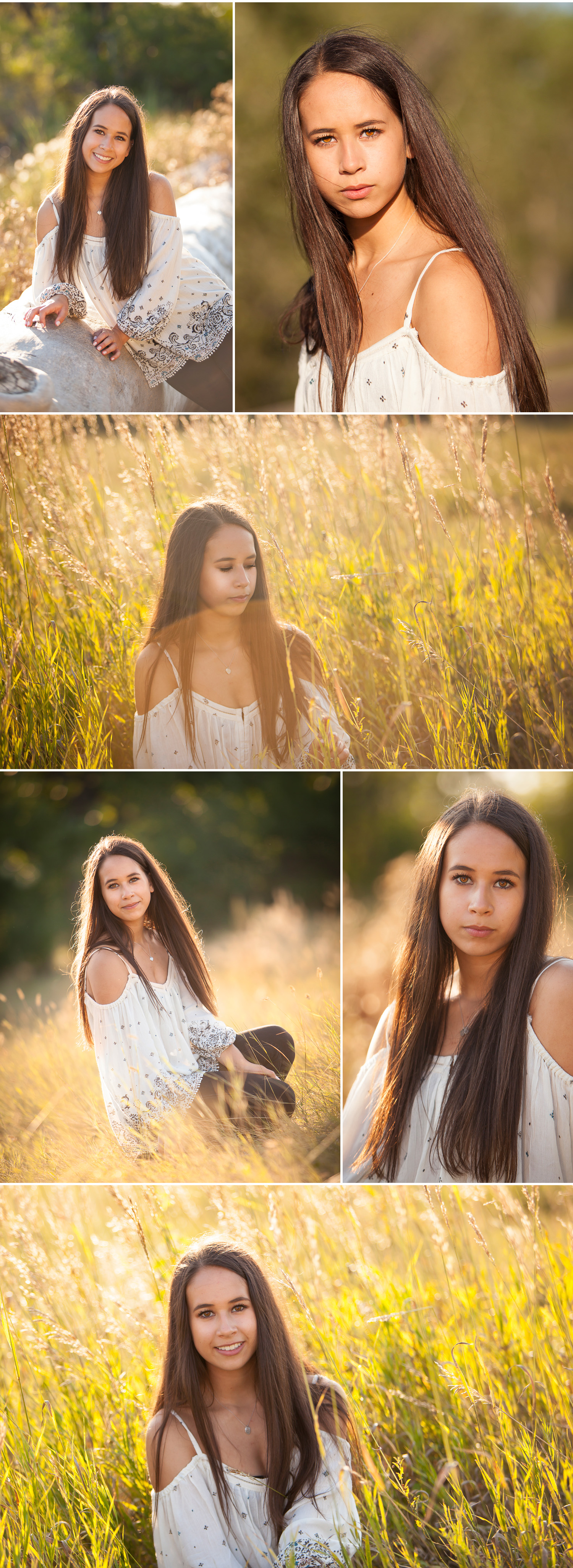 Beautiful brown eyed, brunette girl poses for high school senior pictures in a wildlife preserve south of Denver with photographer Jennifer Koskinen | Merritt Portrait Studio