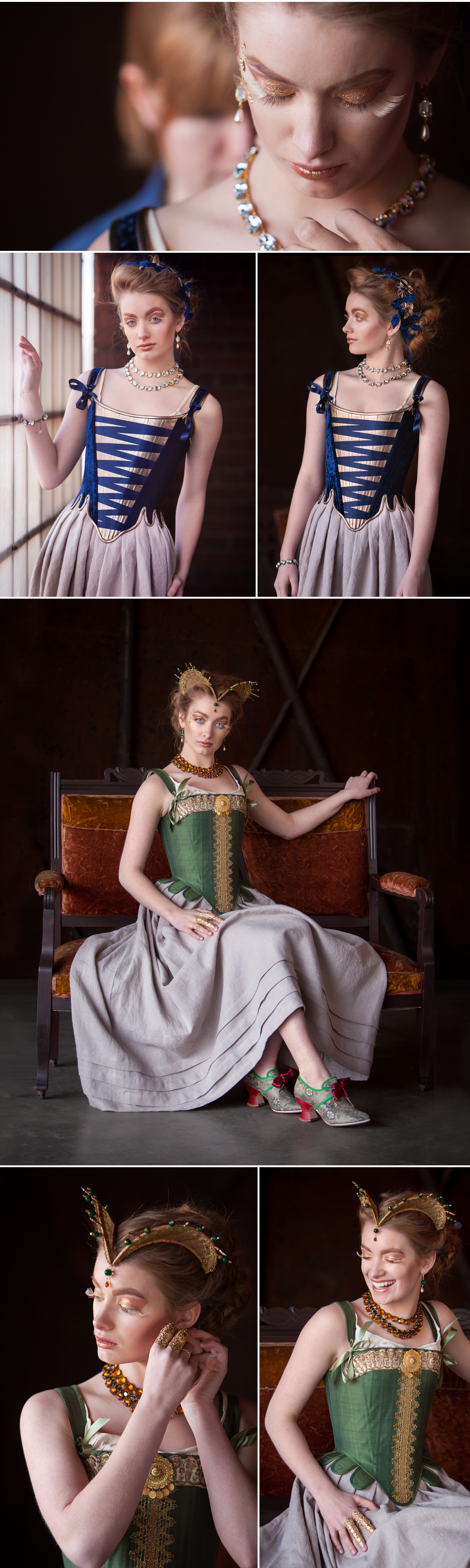 Fashion editorial photo shoot for Redthreaded (corset designer) with Denver photographer Jennifer Koskinen | Merritt Portrait Studio