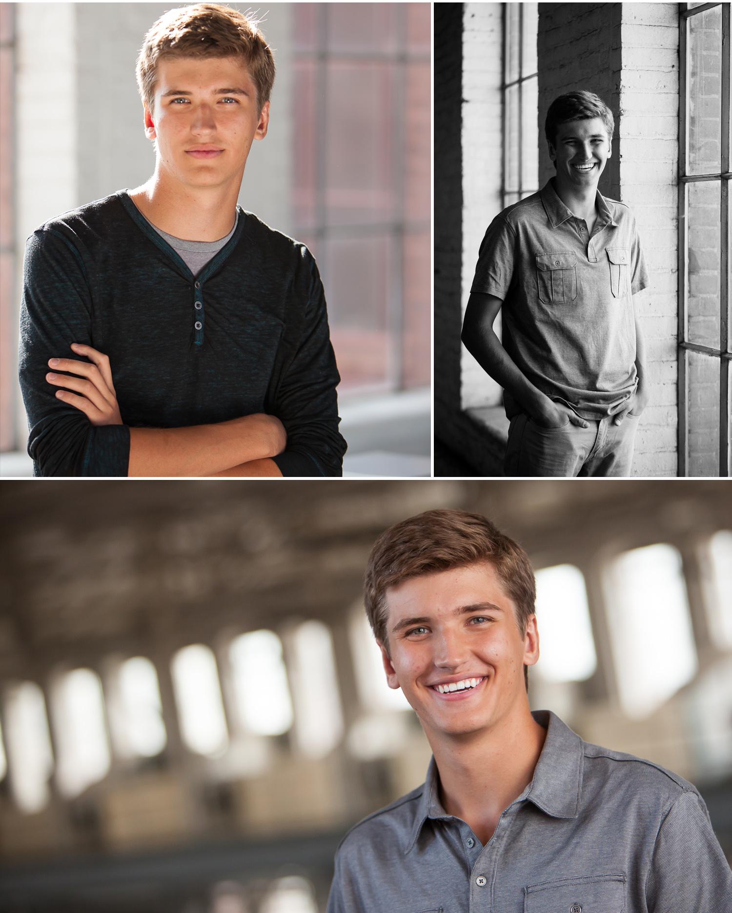 High school senior guy pictures in Denver with photographer Jennifer Koskinen   Merritt Portrait Studio.