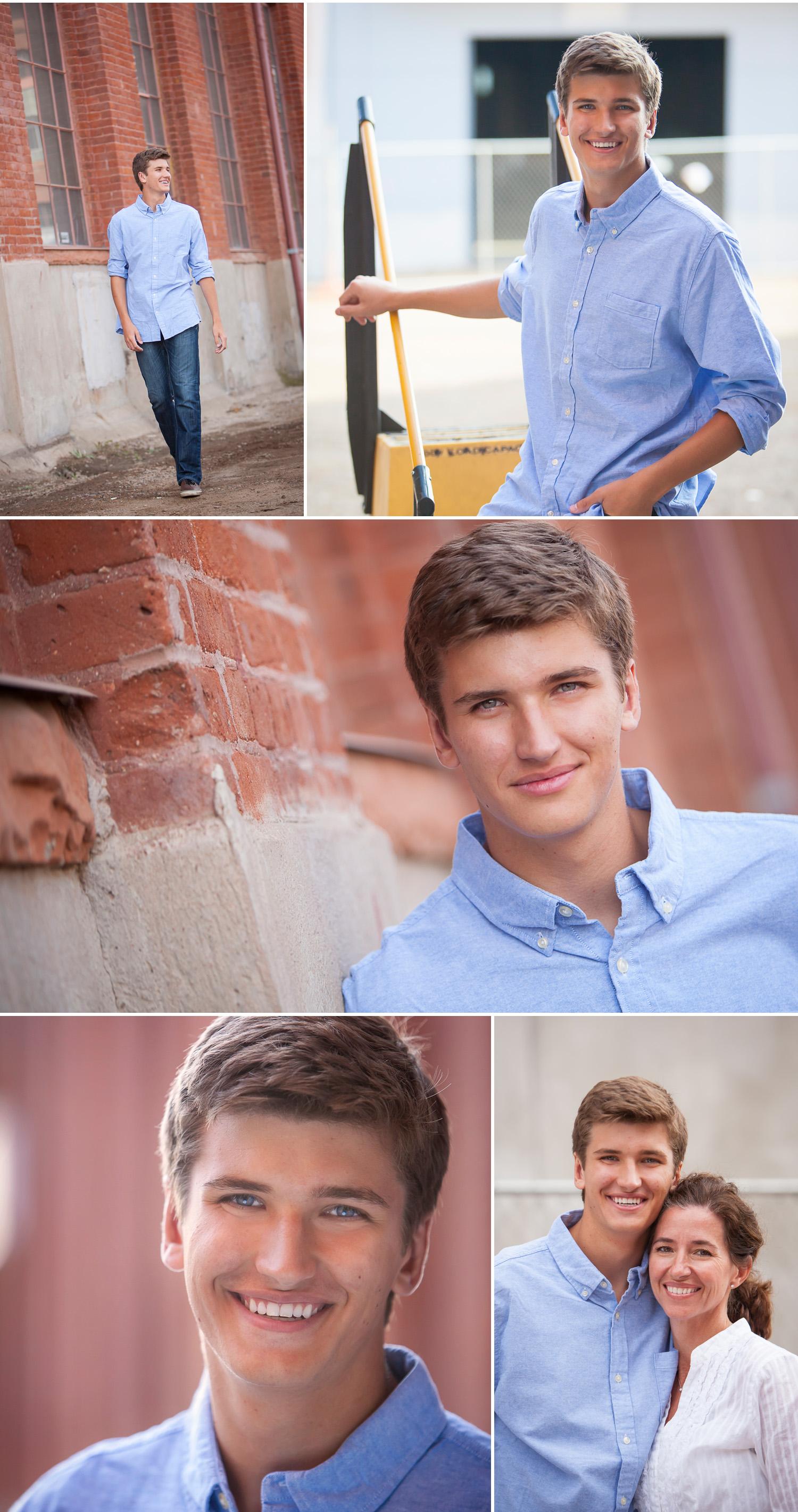 High school senior guy pictures in Denver with photographer Jennifer Koskinen   Merritt Portrait Studio