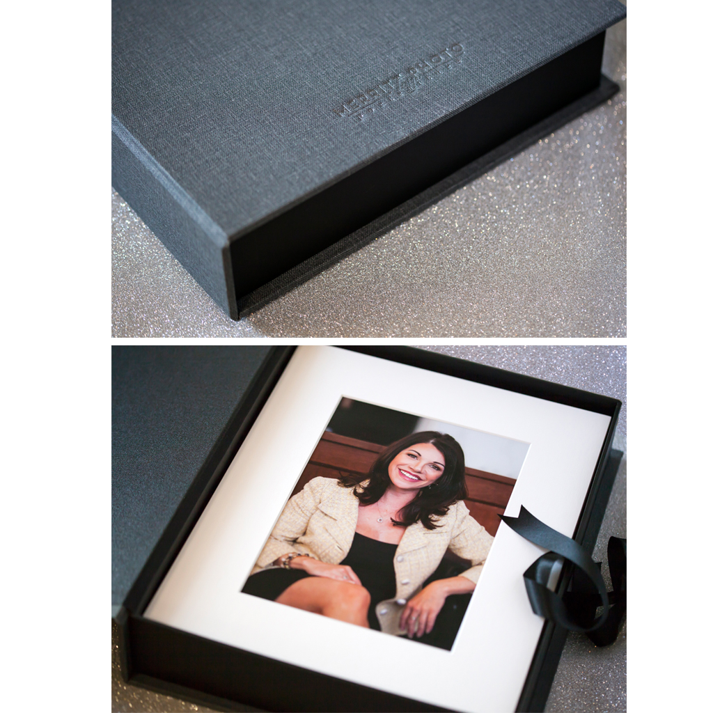 Signature Luxe Folio Box with Matted Prints { includes files }