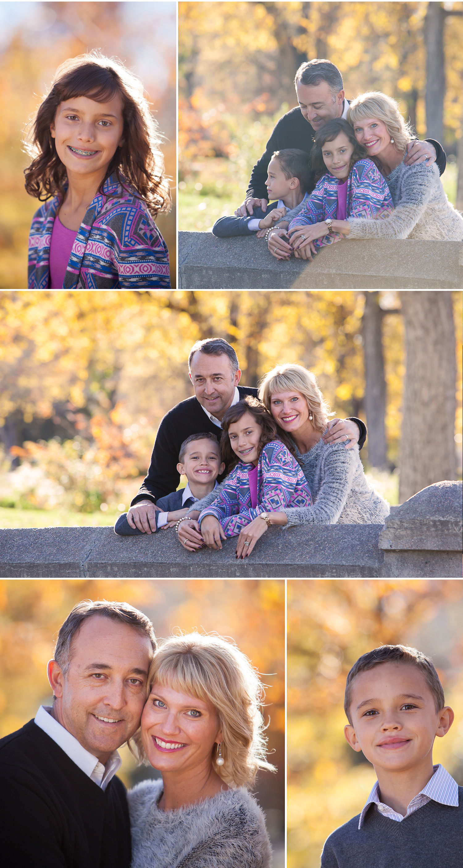 Family Pictures full of joy and love, photographed in fall in Wash Park with Denver photographer Jennifer Koskinen | Merritt Portrait Studio
