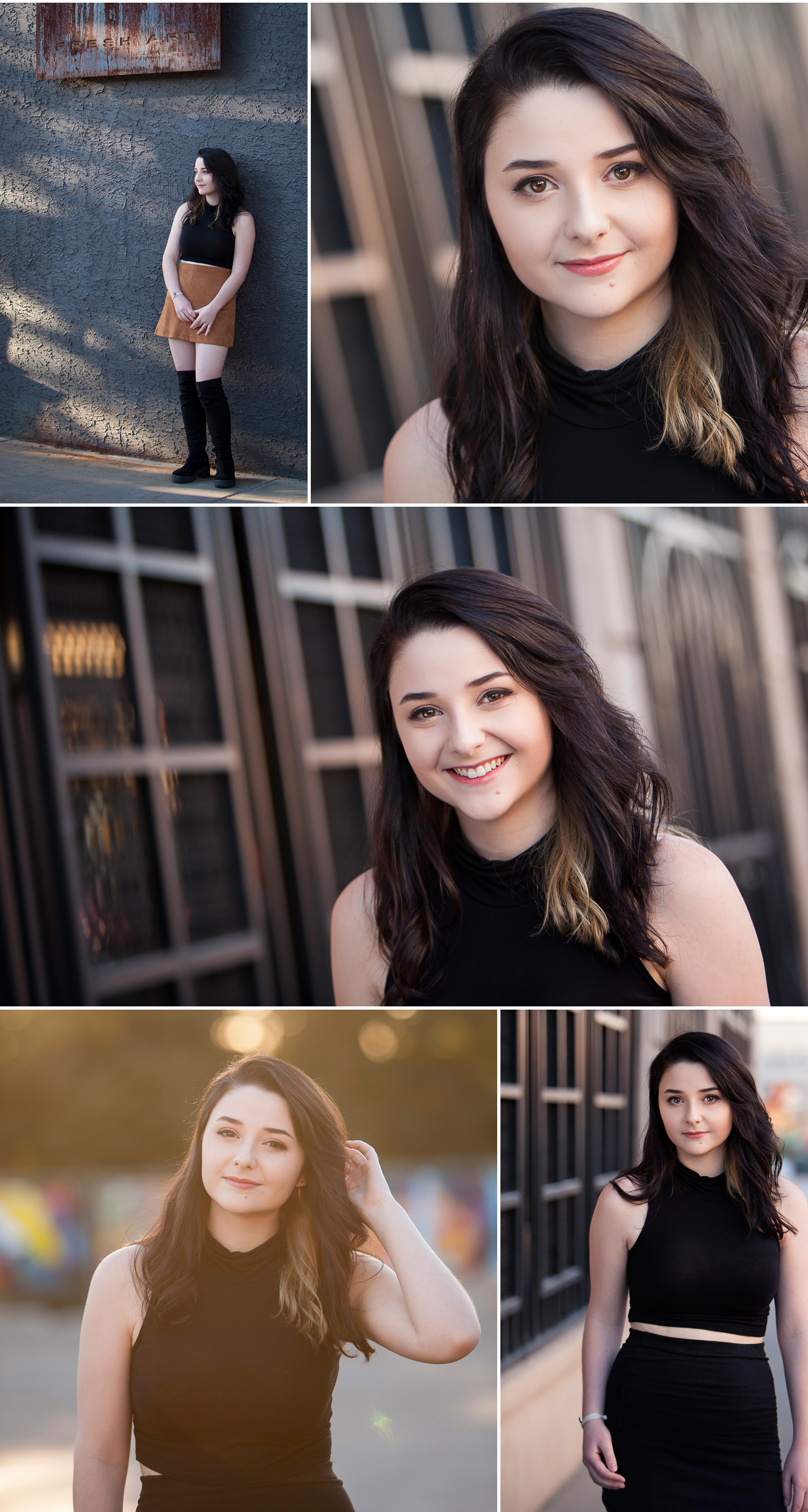 Senior Pictures in the hip, urban Santa Fe Arts District of Denver with photographer Jennifer Koskinen | Merritt Portrait Studio
