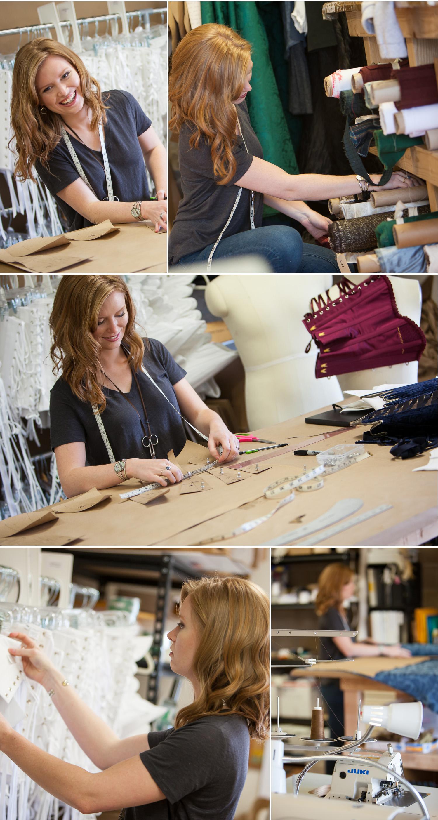 Editorial photos of Cindy Settje inside her Redthreaded costume studio, Boulder Colorado, with photographer Jennifer Koskinen   Merritt Portrait Studio