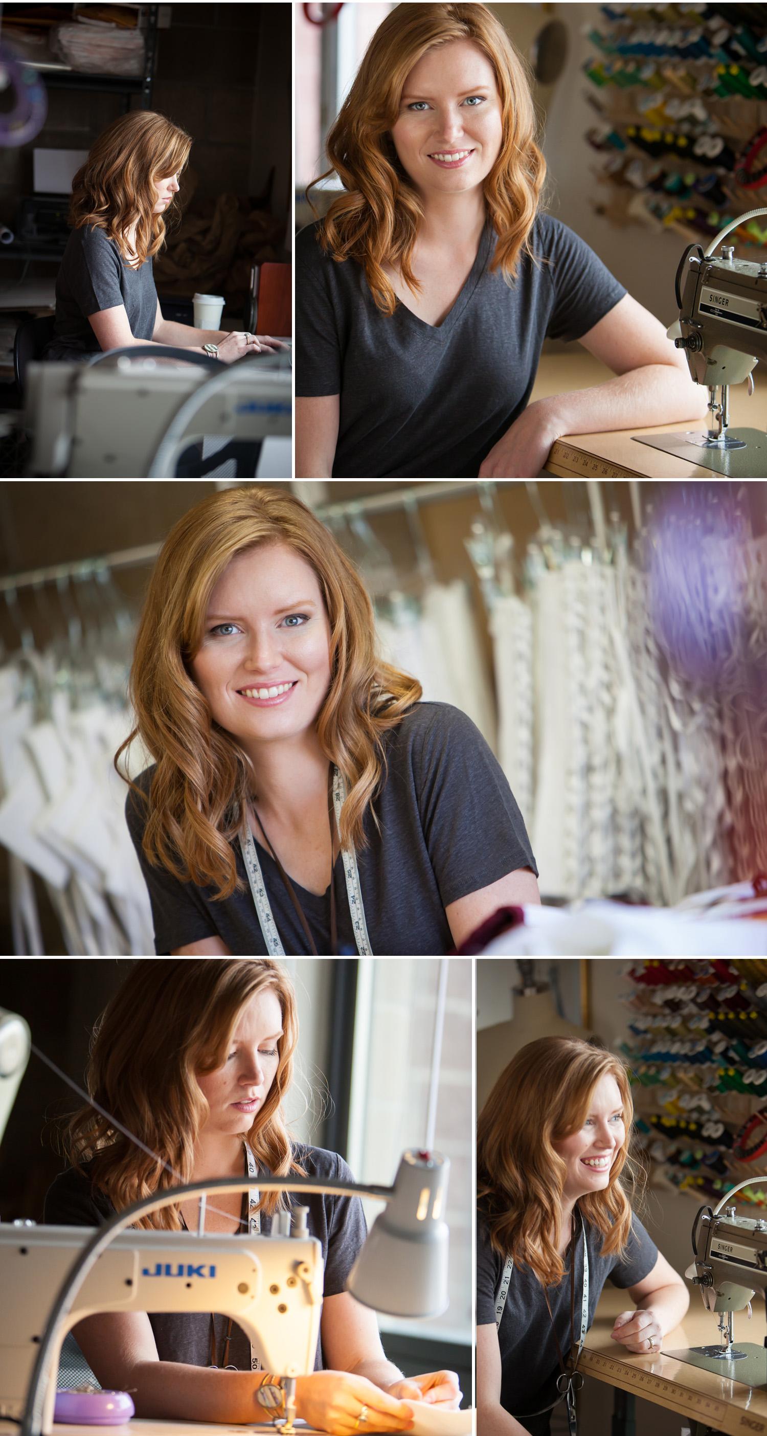 Editorial photos inside Redthreaded's costume studio outside of Boulder Colorado, with photographer Jennifer Koskinen   Merritt Portrait Studio