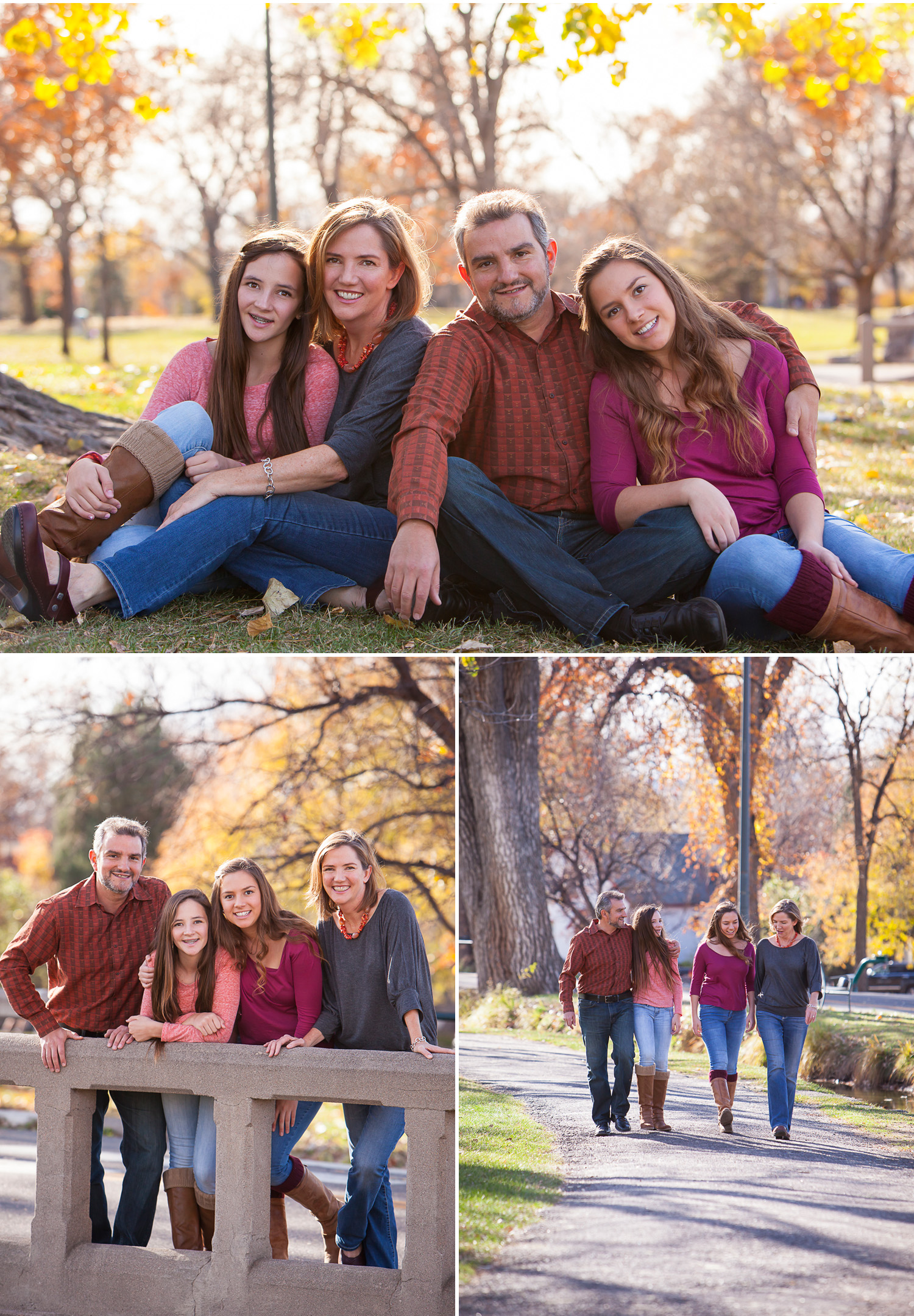 Autumn Family Portraits, outside at Wash Park in Denver with photographer Jennifer Koskinen | Merritt Portrait Studio