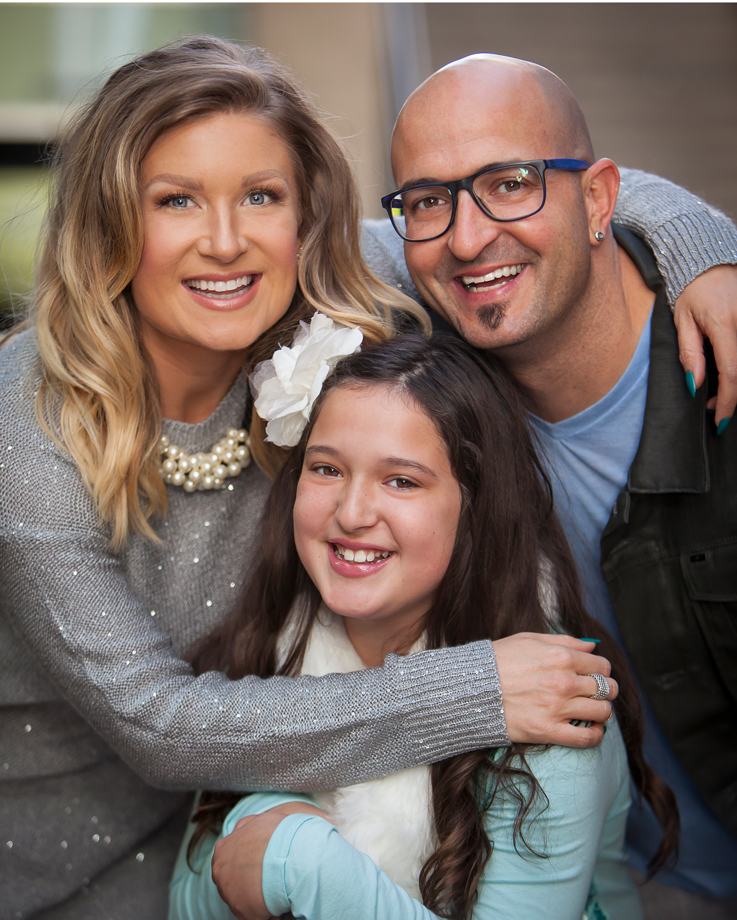 Portrait of Family of Three in Denver with photographer Jennifer Koskinen