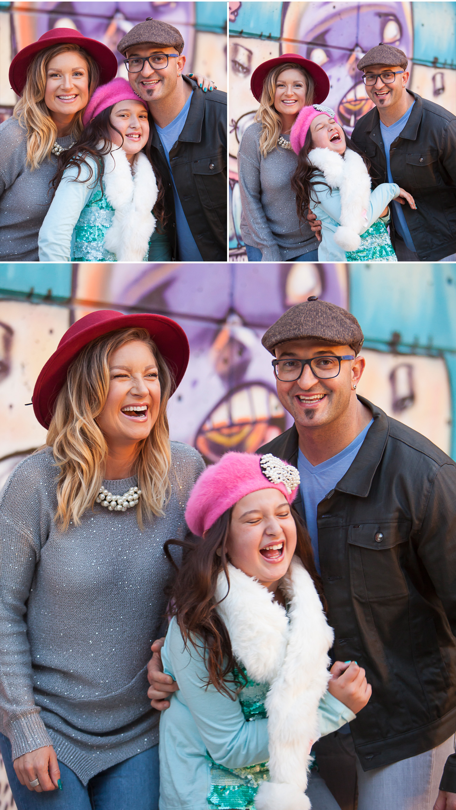 Colorful Urban Family Pictures with Graffiti in Denver with photographer Jennifer Koskinen