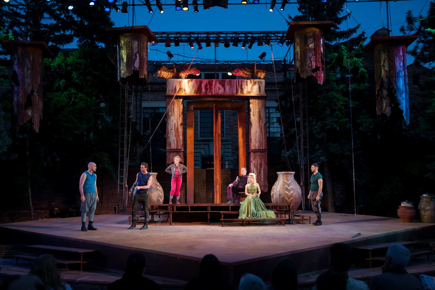 Colorado Shakespeare Festival presents Troilus & Cressida in the Mary Rippon Theatre at University of Colorado, photographed by Gabe Koskinen, Merritt Portrait Studio