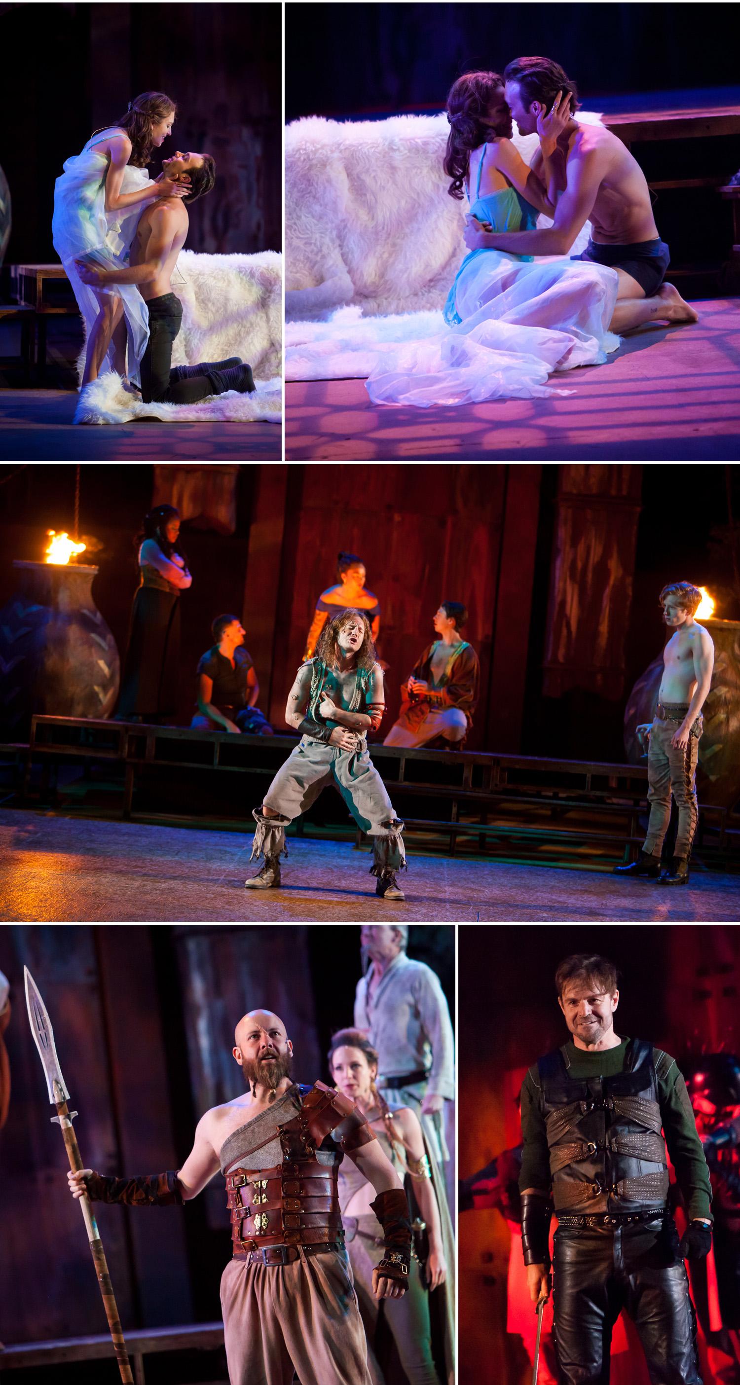 Dramatic lighting in running shoot of live theater performance by Denver photographer Jennifer Koskinen, Merritt Portrait Studio