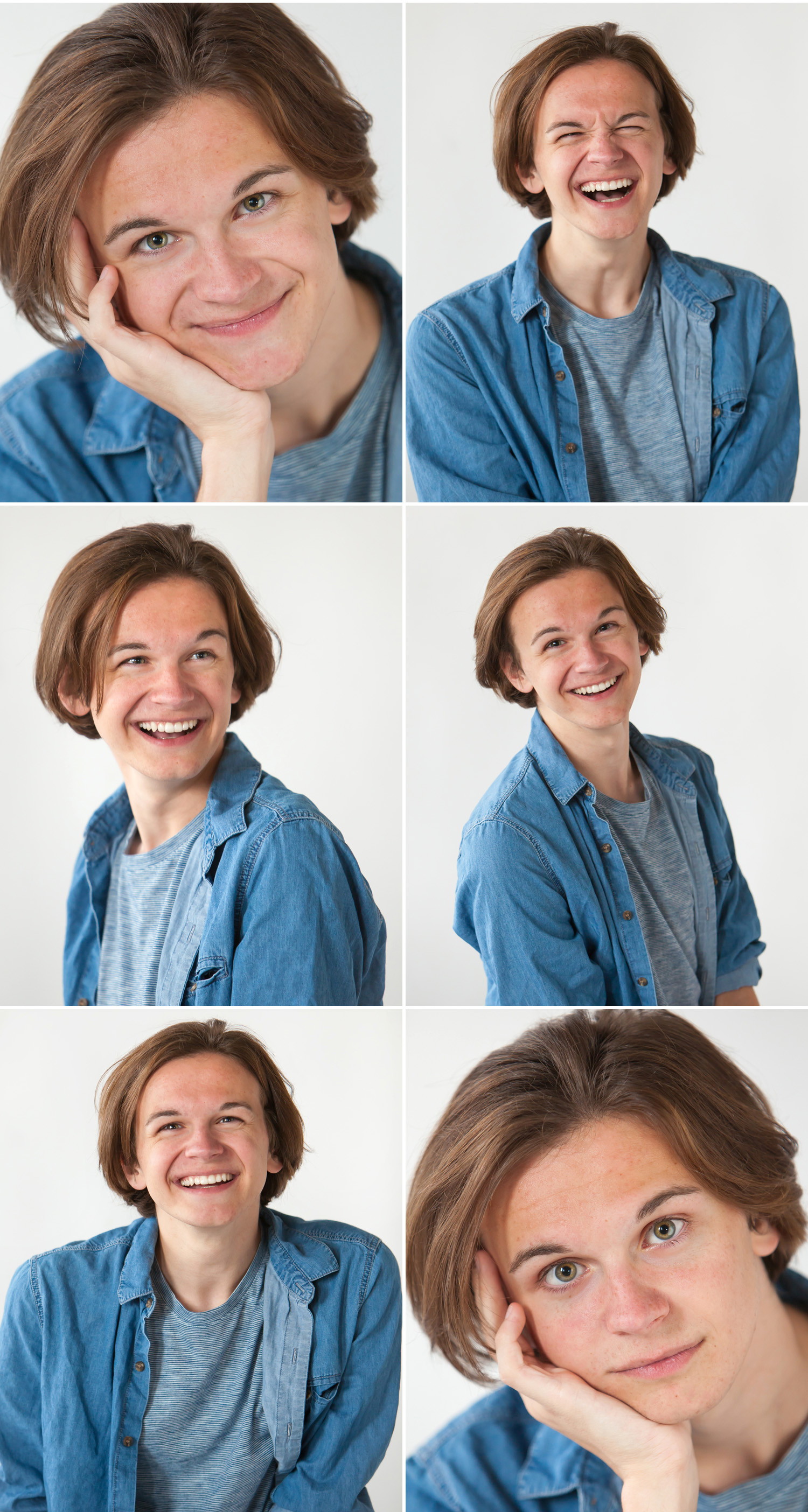 Happy, studio senior picture photostrip in Denver, by photographer Jennifer Koskinen, Merritt Portrait Studio