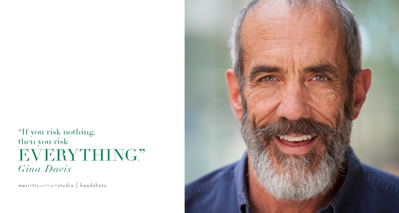 Male Actor Headshot, photo by Jennifer Koskinen, Merritt Portrait Studio