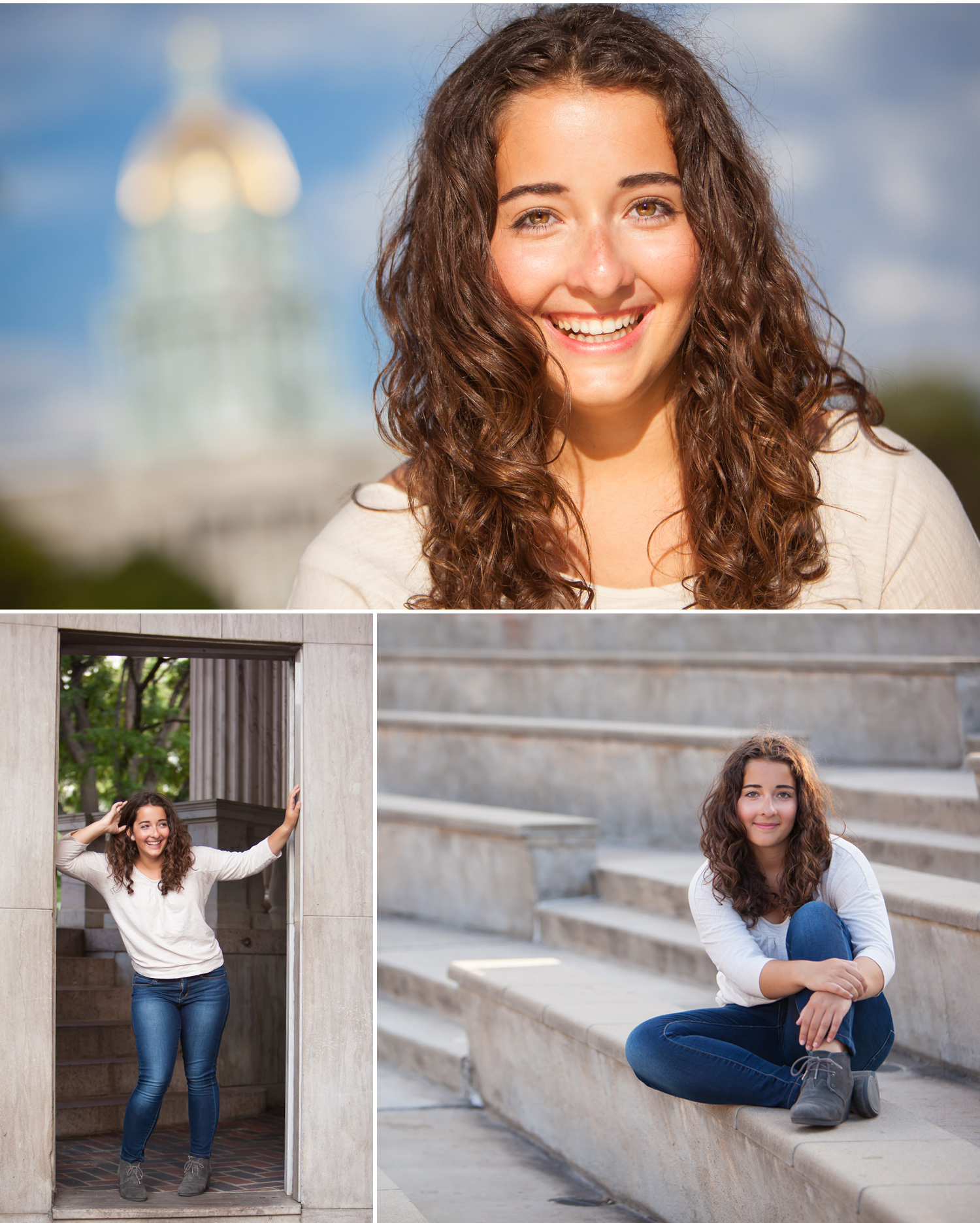 Natural Light Senior Pictures in Denver with photographer Jennifer Koskinen of Merritt Portrait Studio