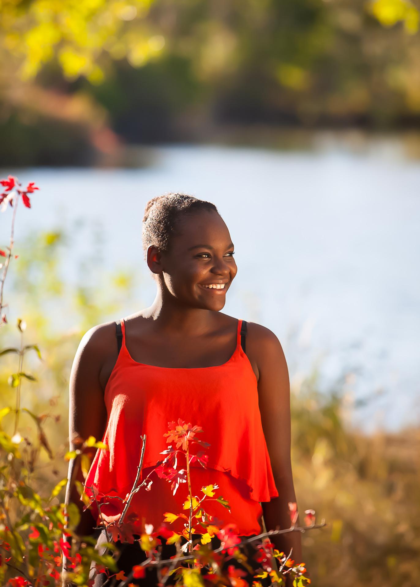Senior Portrait by Lake