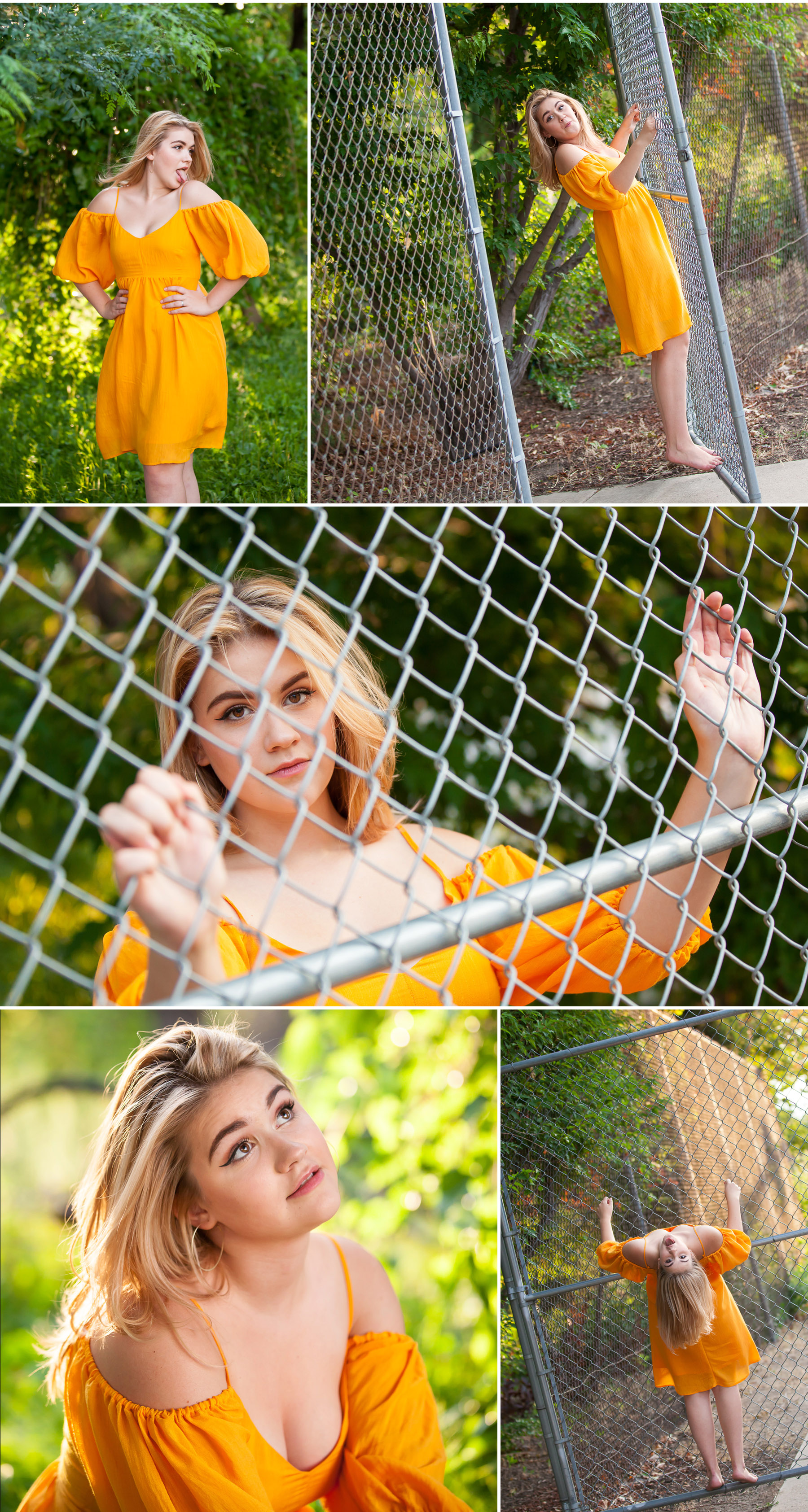 Playful High School Senior Portraits in summer garden with Denver photographer Jennifer Koskinen, Merritt Portrait Studio