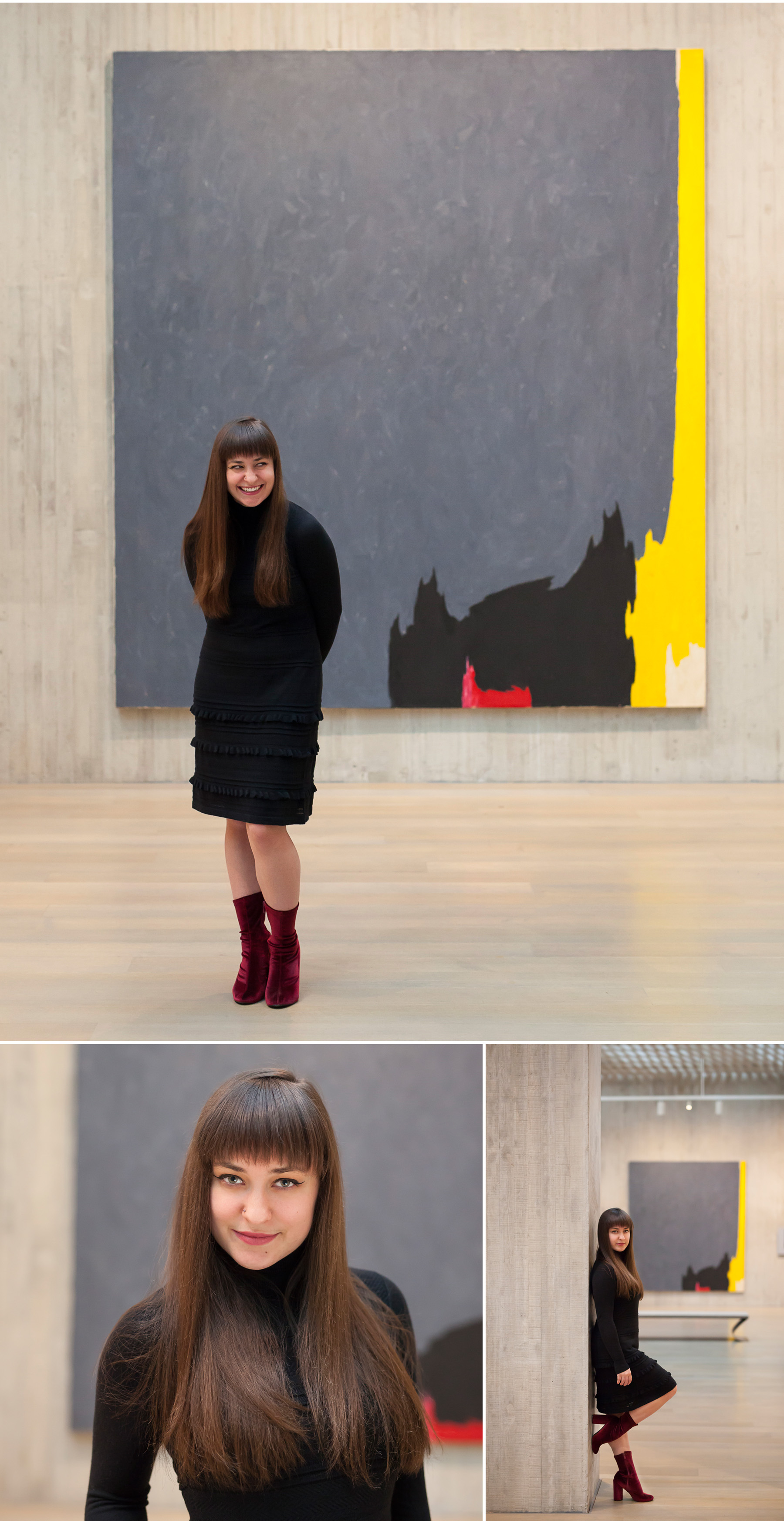 Senior Portraits in Art Museum in Denver with photographer Jennifer Koskinen