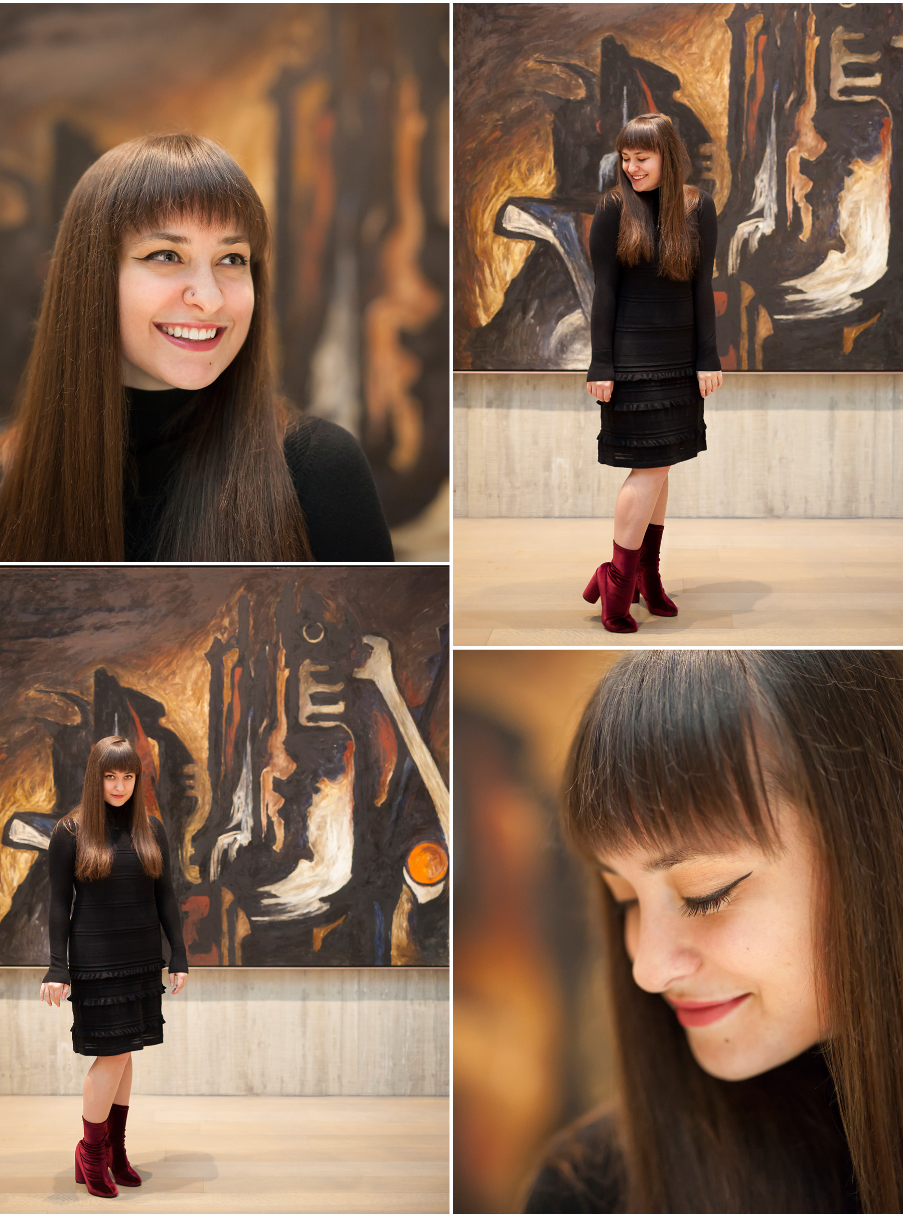 Senior Pictures in Art Museum in Denver with photographer Jennifer Koskinen, Merritt Portrait Studio
