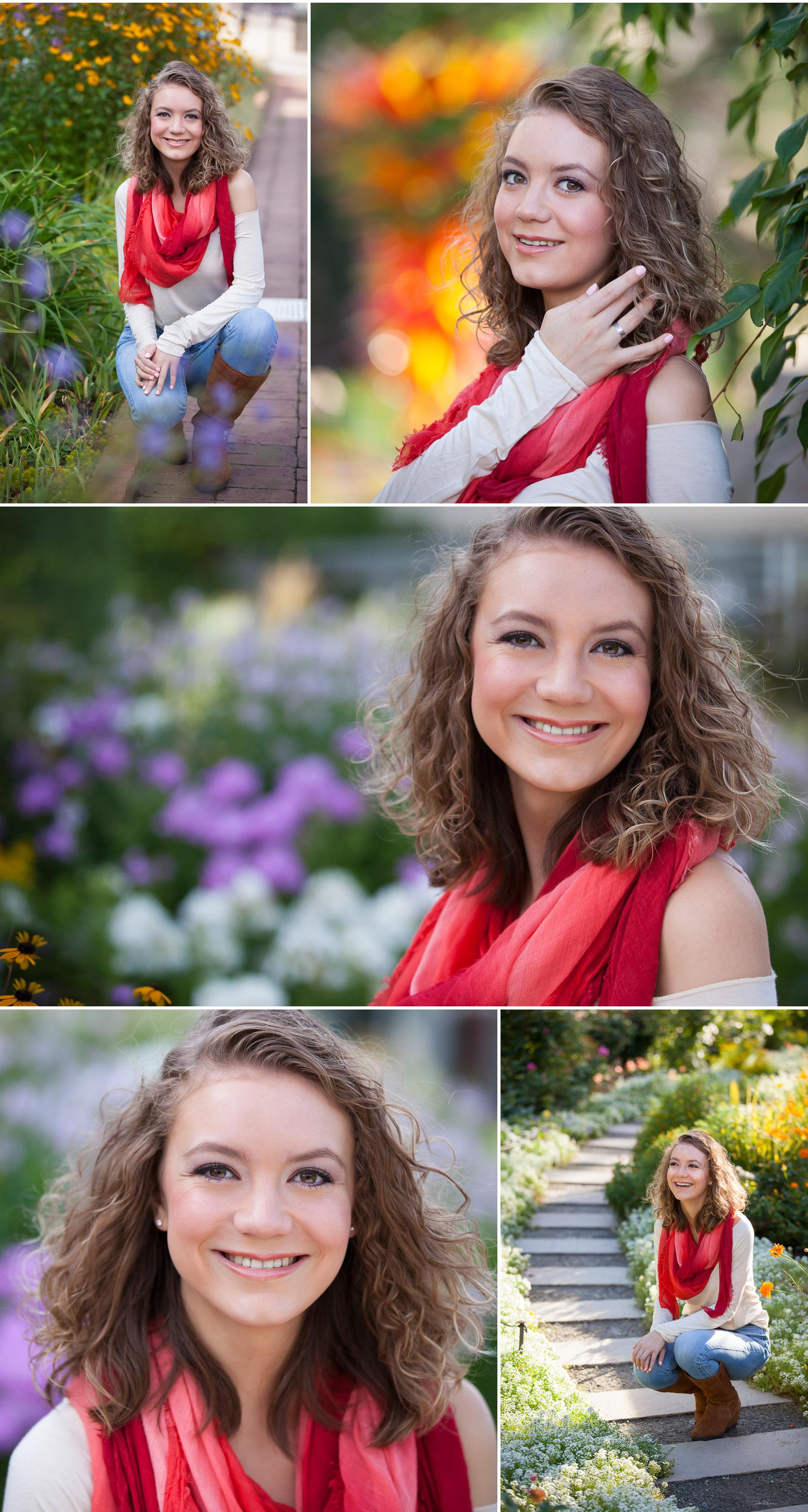 Senior Pictures at Denver Botanic Gardens with photographer Jennifer Koskinen
