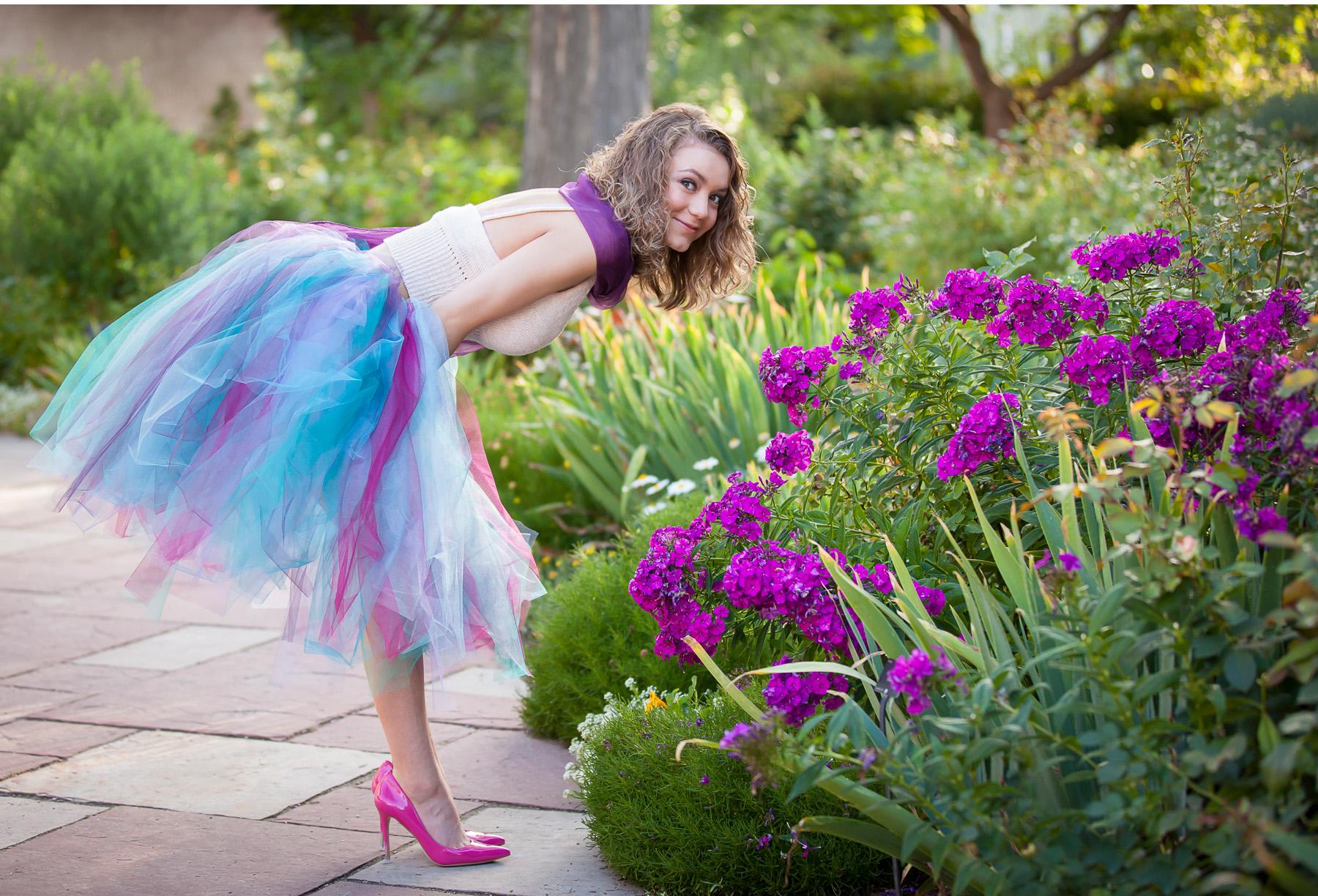 Senior Pictures in Denver Botanic Gardens, photographer Jennifer Koskinen