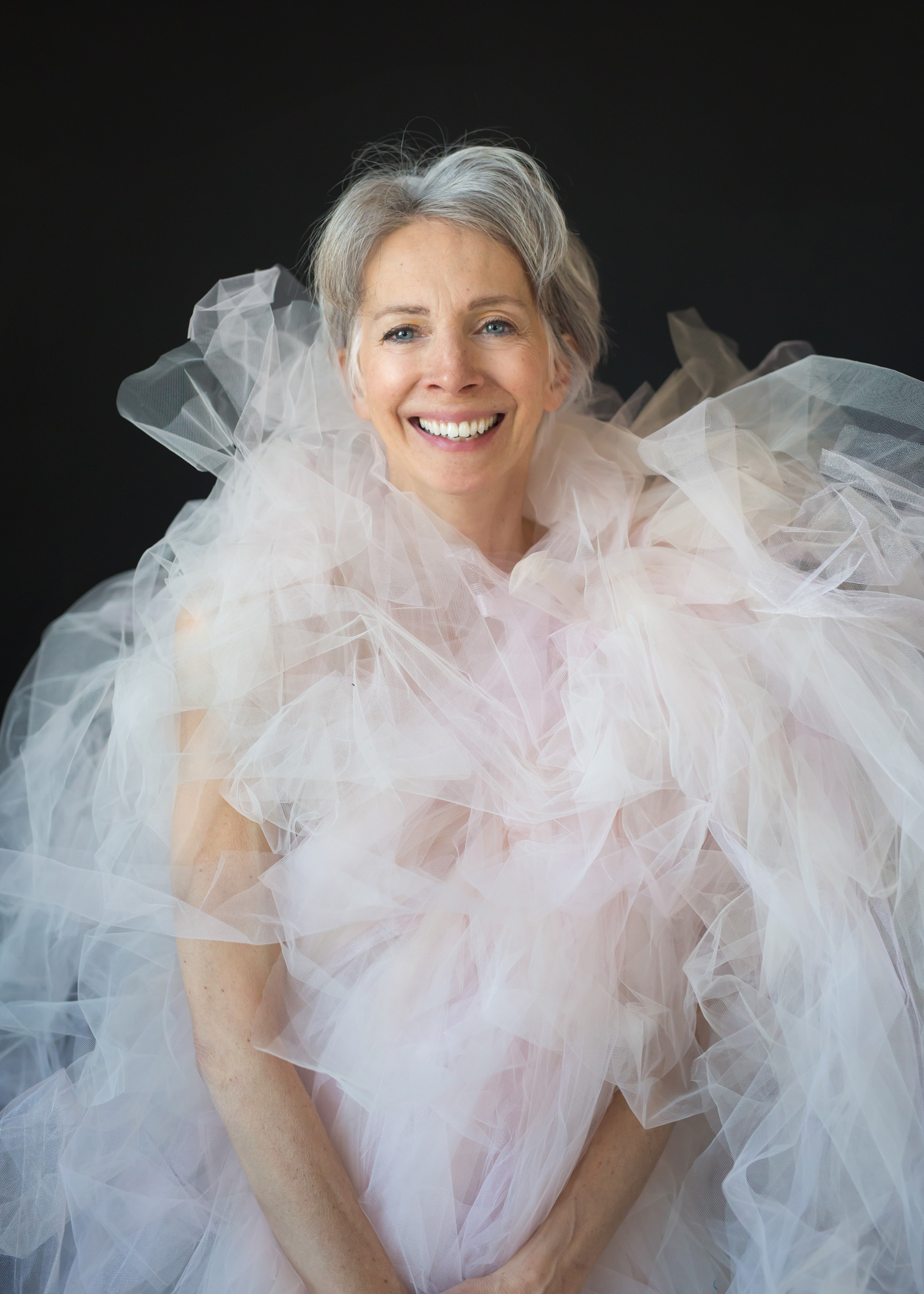 Valerie Madonia portrait in tulle during photo session with Denver dance photographer Jennifer Koskinen, Merritt Portrait Studio