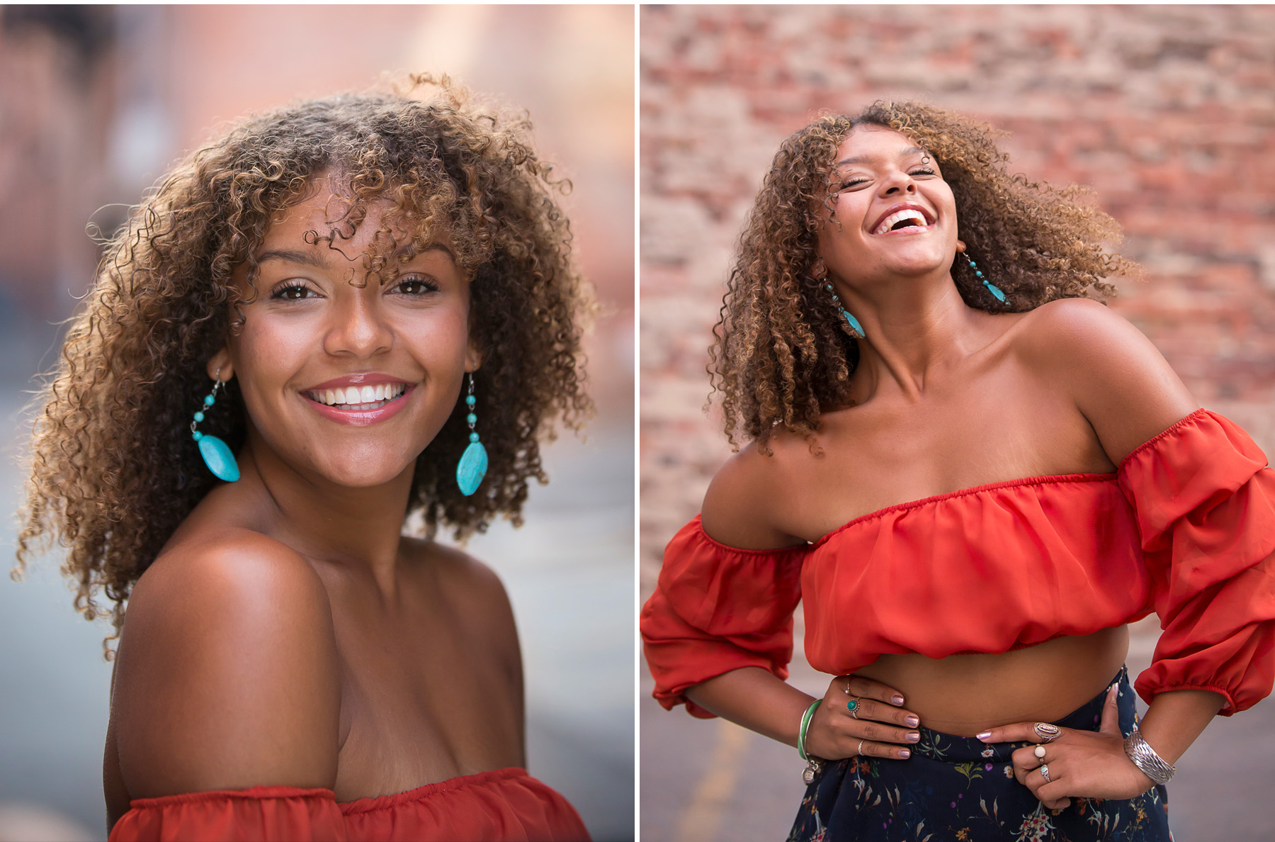 Strong, beautiful black woman rocks her urban high school senior pictures with Denver photographer, Jennifer Koskinen, Merritt Portrait Studio