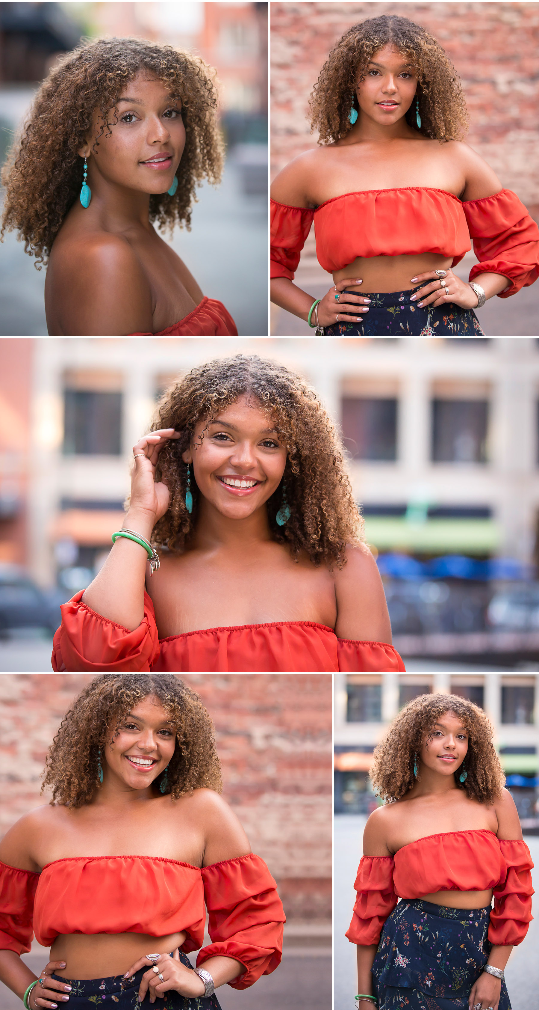 Beautiful black woman rocking her senior portrait session with Denver photographer, Jennifer Koskinen, Merritt Portrait Studio