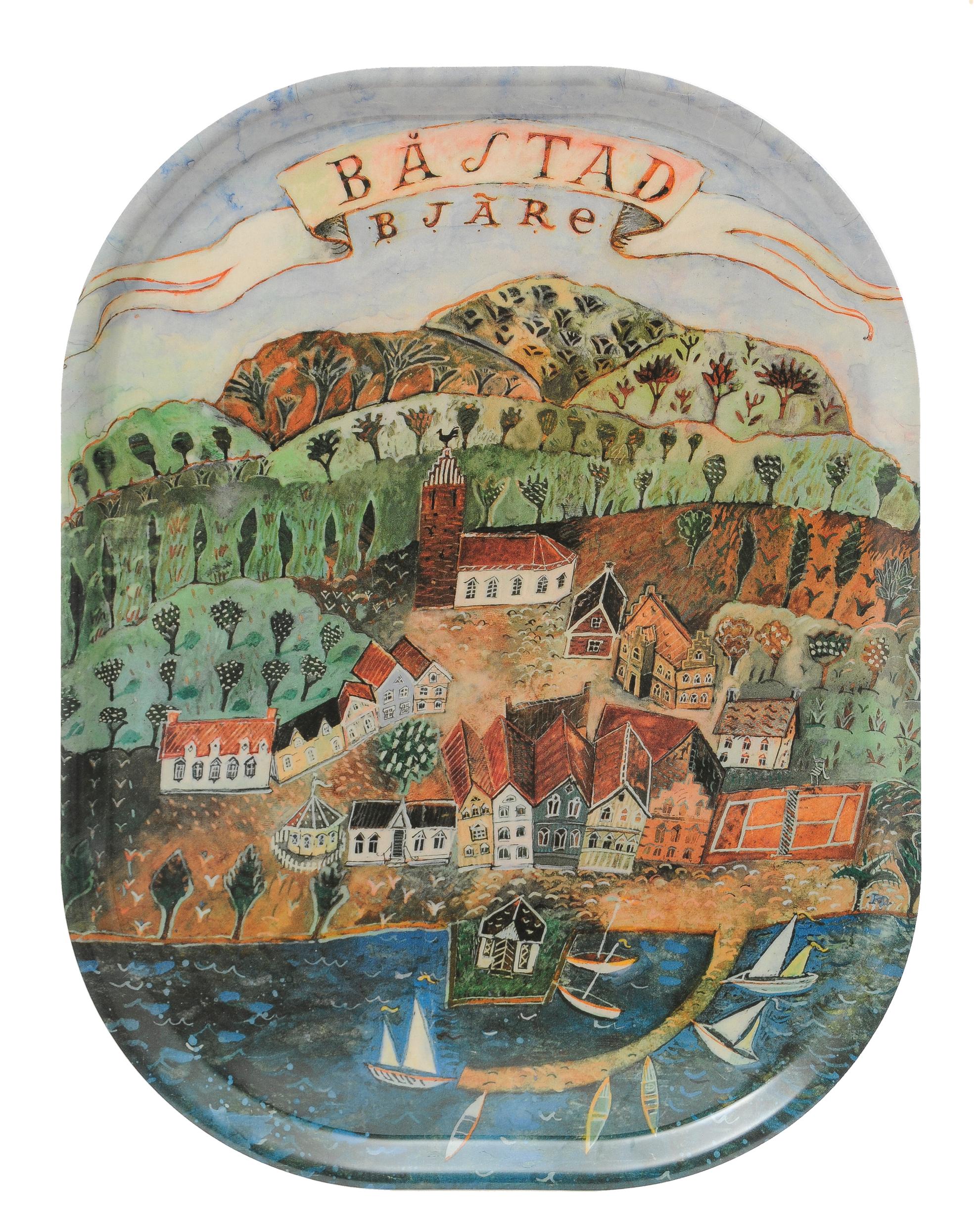 Oval Bricka Båstad/Bjäre