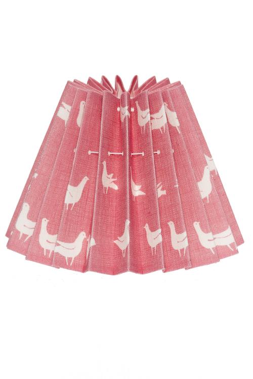 Lampskärm duvtyg rosa