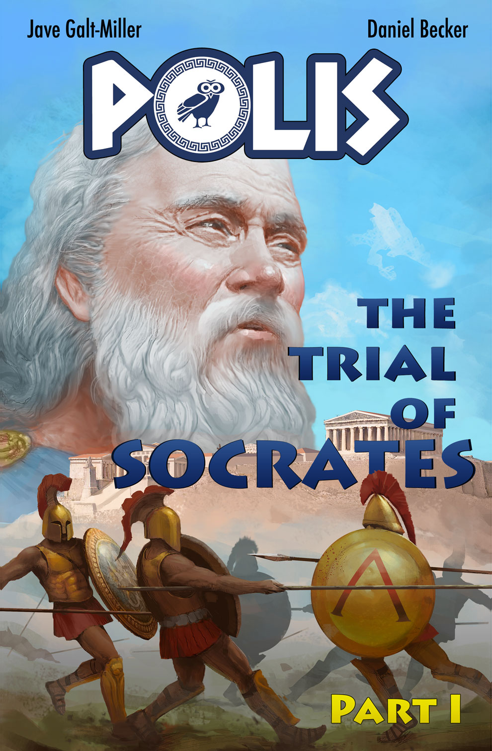 Polis: Trial of Socrates, Part I - 60-page Graphic novel written by Jave Galt-Miller and colored by Andrei Tabacaru. A historical fiction story that depicts the political events that leads to the Trial of one of Western society's greatest minds.