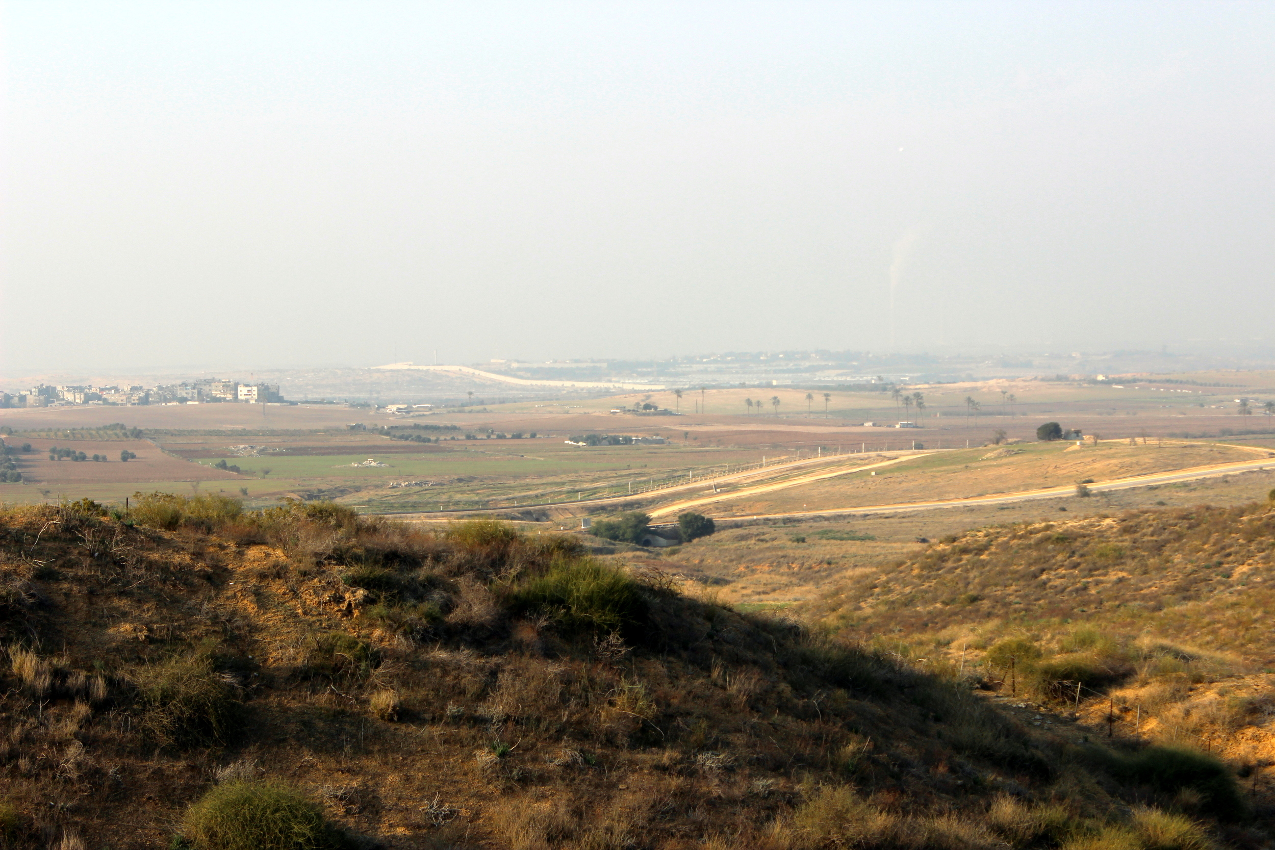 View towards Gaza Strip