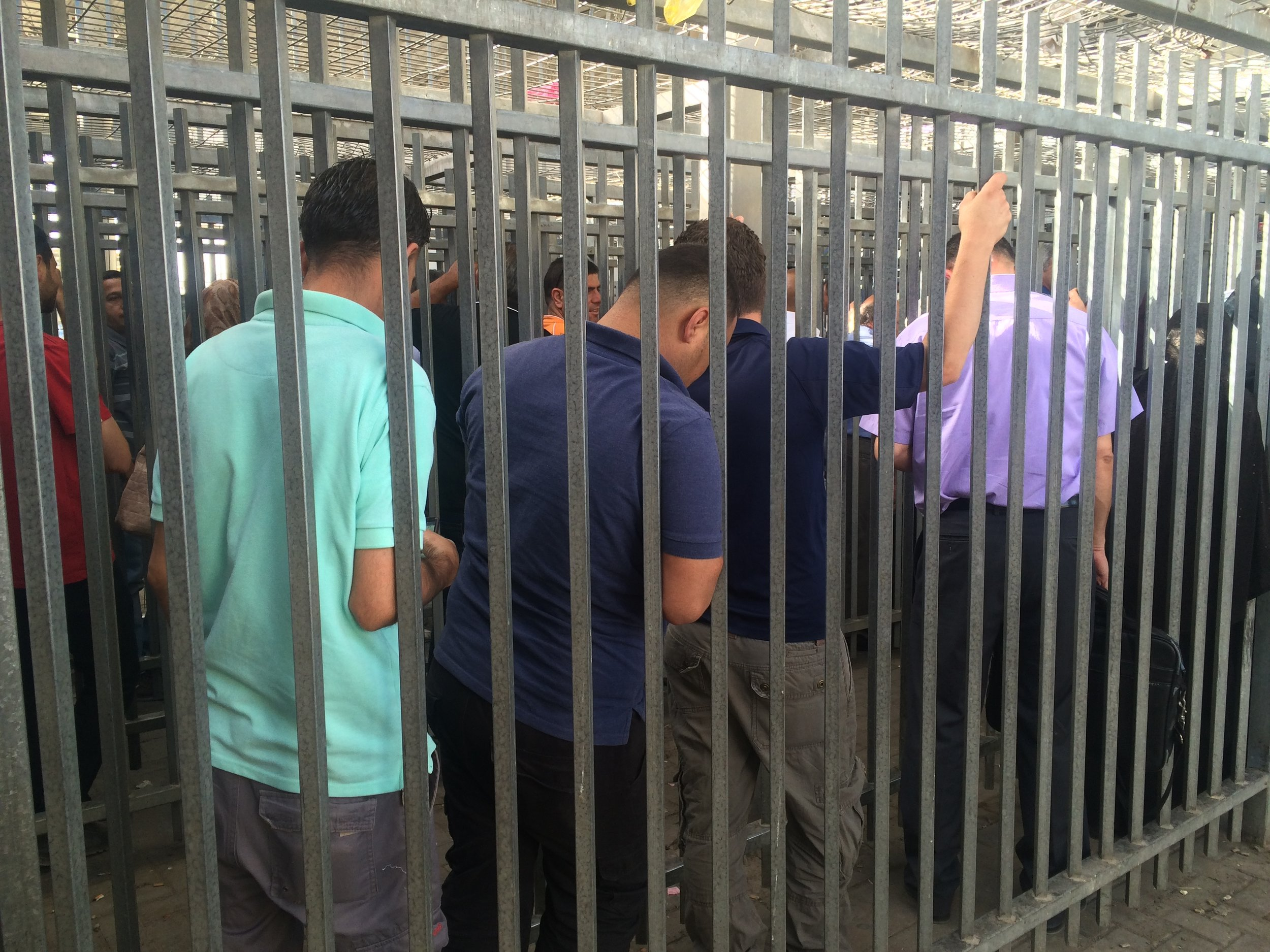 Photo from Qalandiya Checkpoint, June 2017. No photography is allowed inside the Military courts.