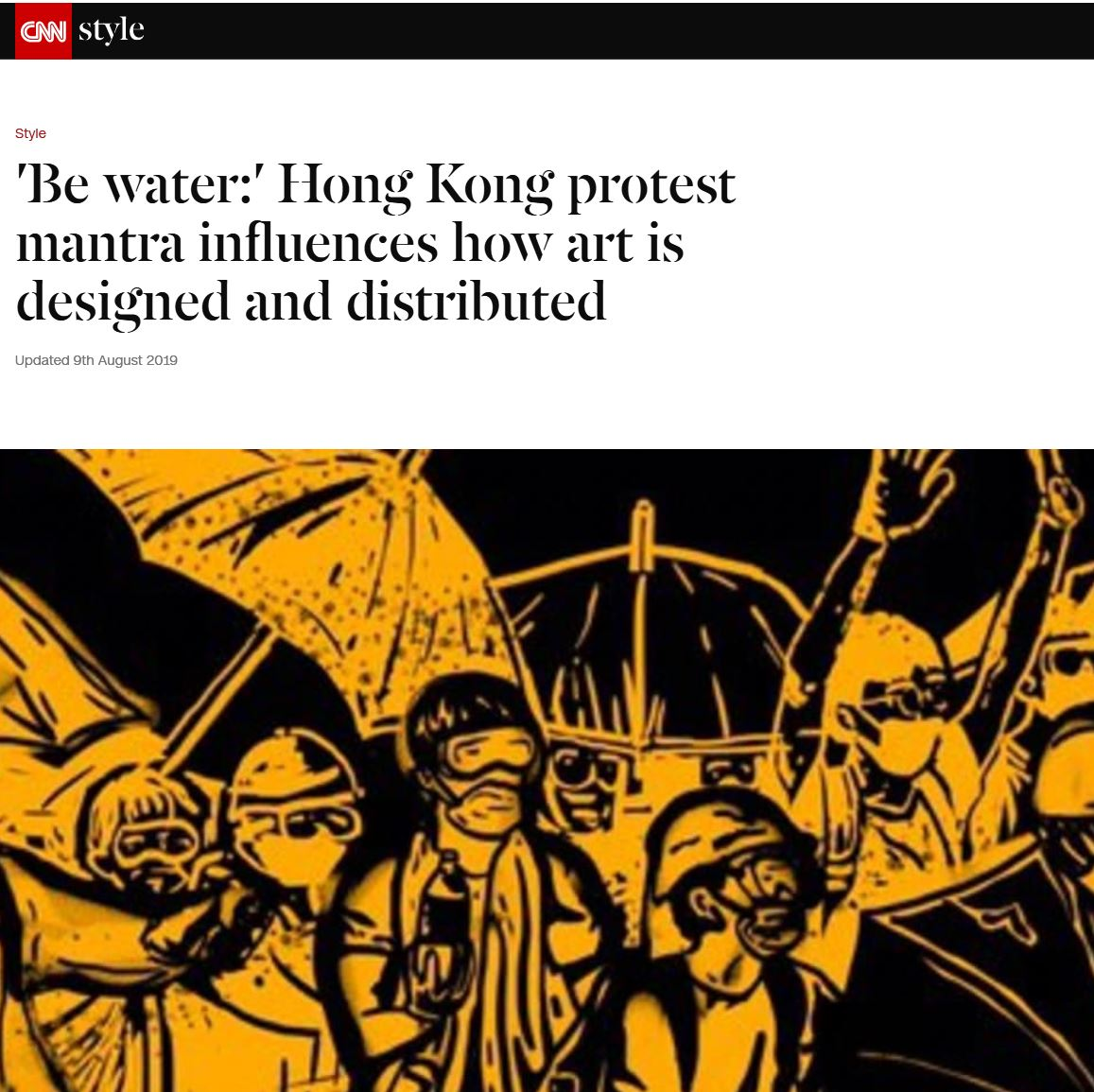 August/9/2019 CNN  Shared my analysis on poster art and its impact on recent Hong Kong protest.