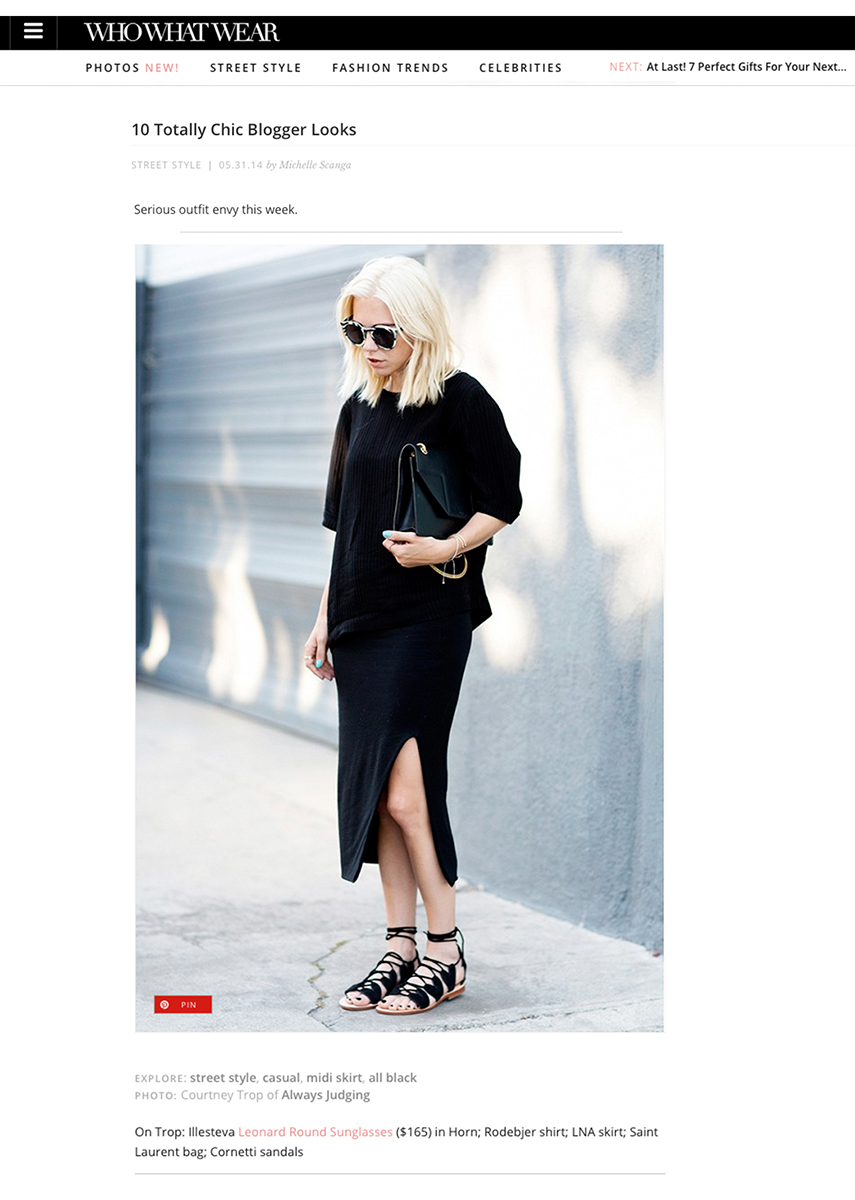 WHO WHAT WEAR / May 2014