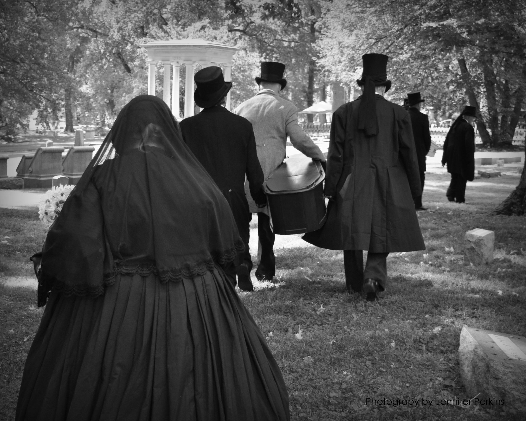 Funeral procession from Consolations of Memory 2018 ~image courtesy of Jennifer Perkins