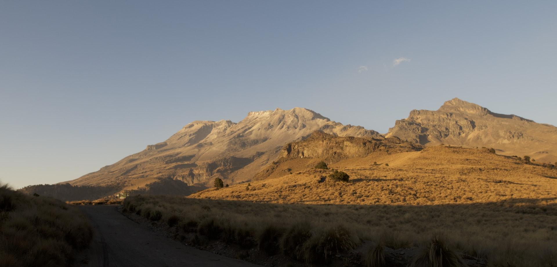 Iztaccihuatl, third highest peak in Mexico at 5200m something.