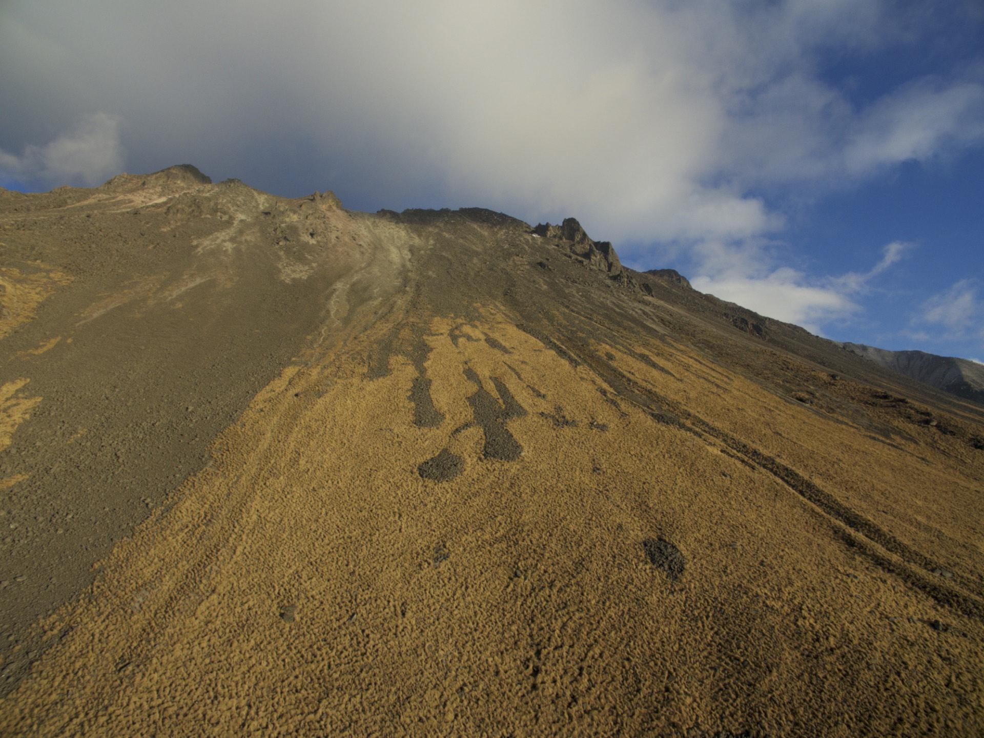 Nevado of Toluca, fourth highest volcanoe in Mexico.