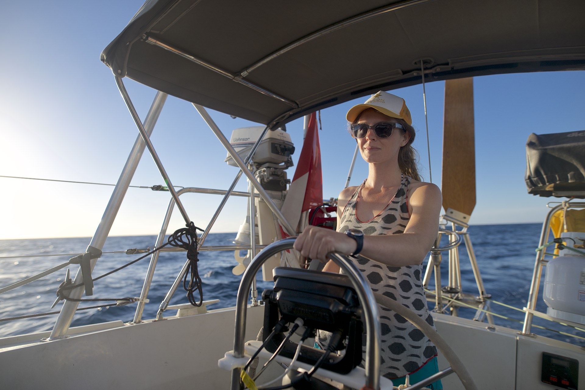 Sailing with Fiona and Robin on Monarch, on the Sea of Cortez.