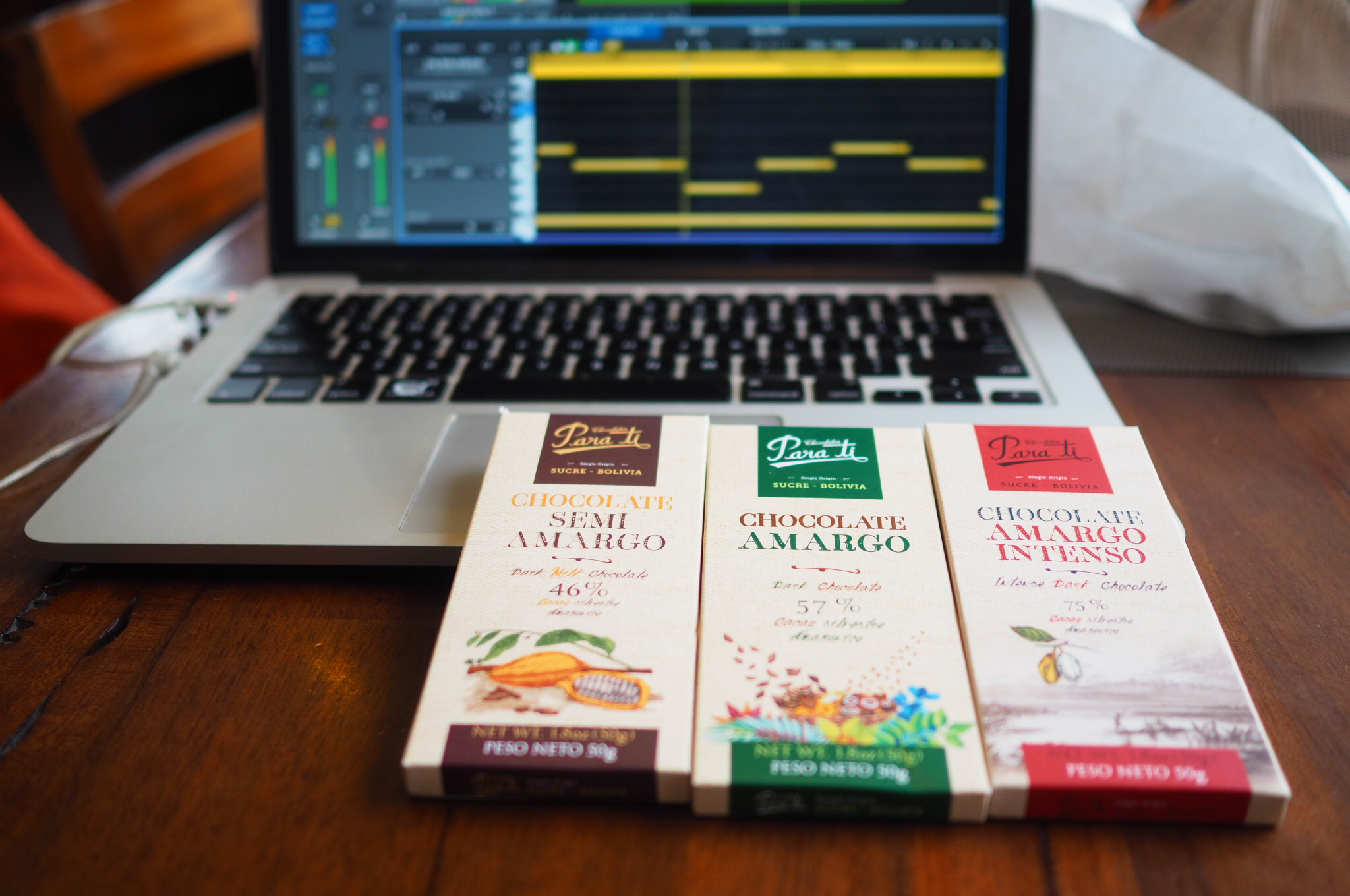 Producing EDM with chocolate.