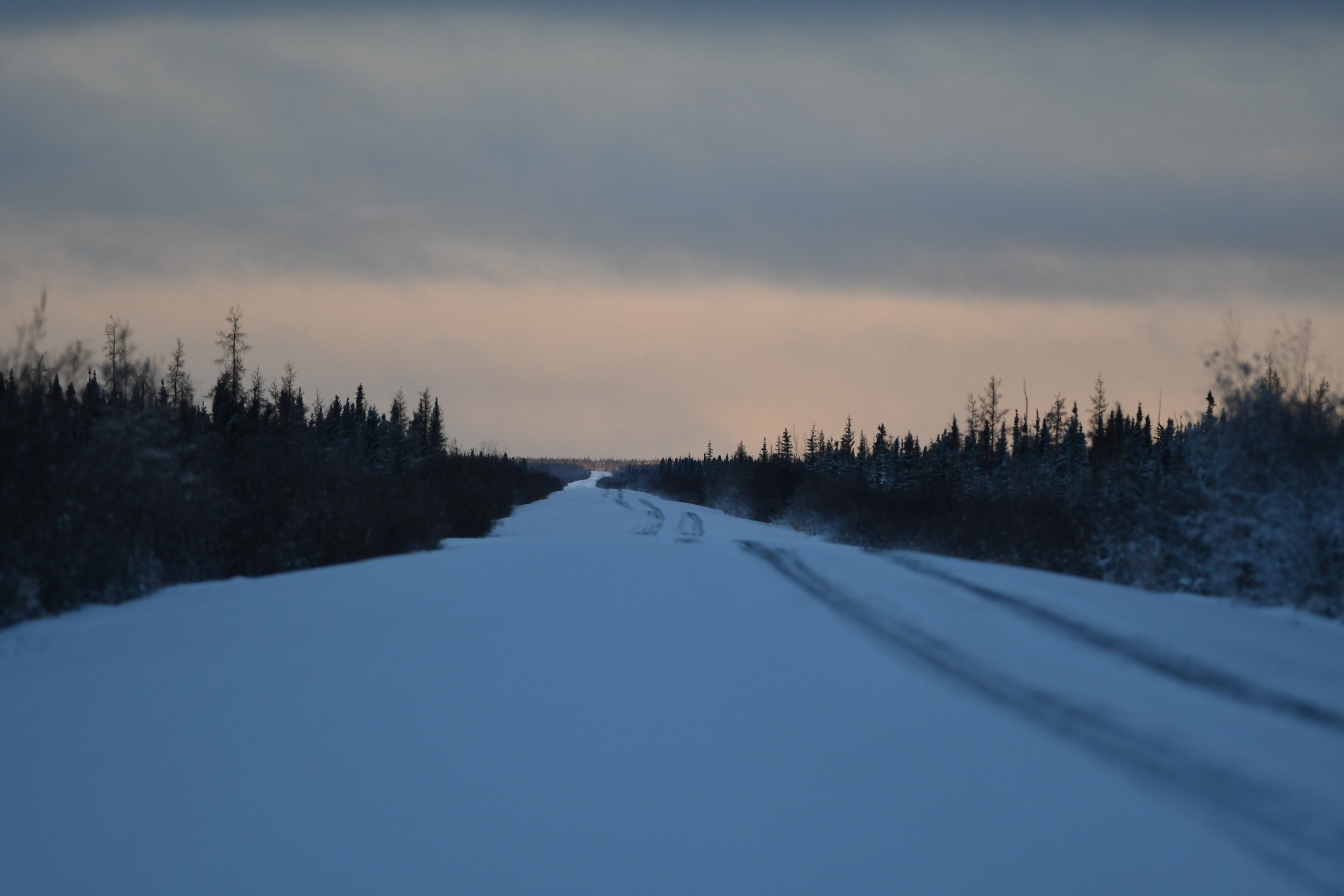The Dempster Highway at dawn.