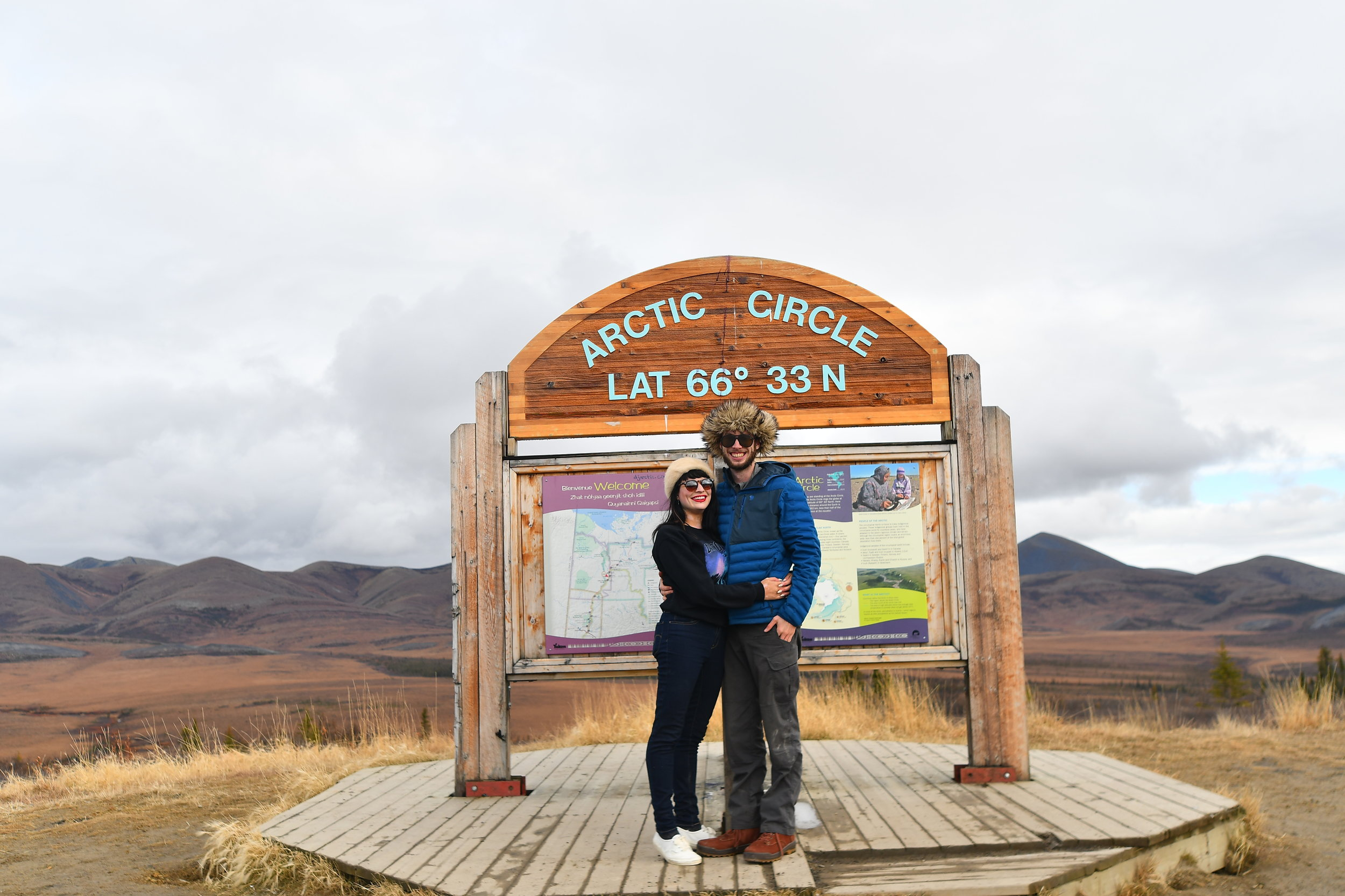 My love and I by the arctic circle.