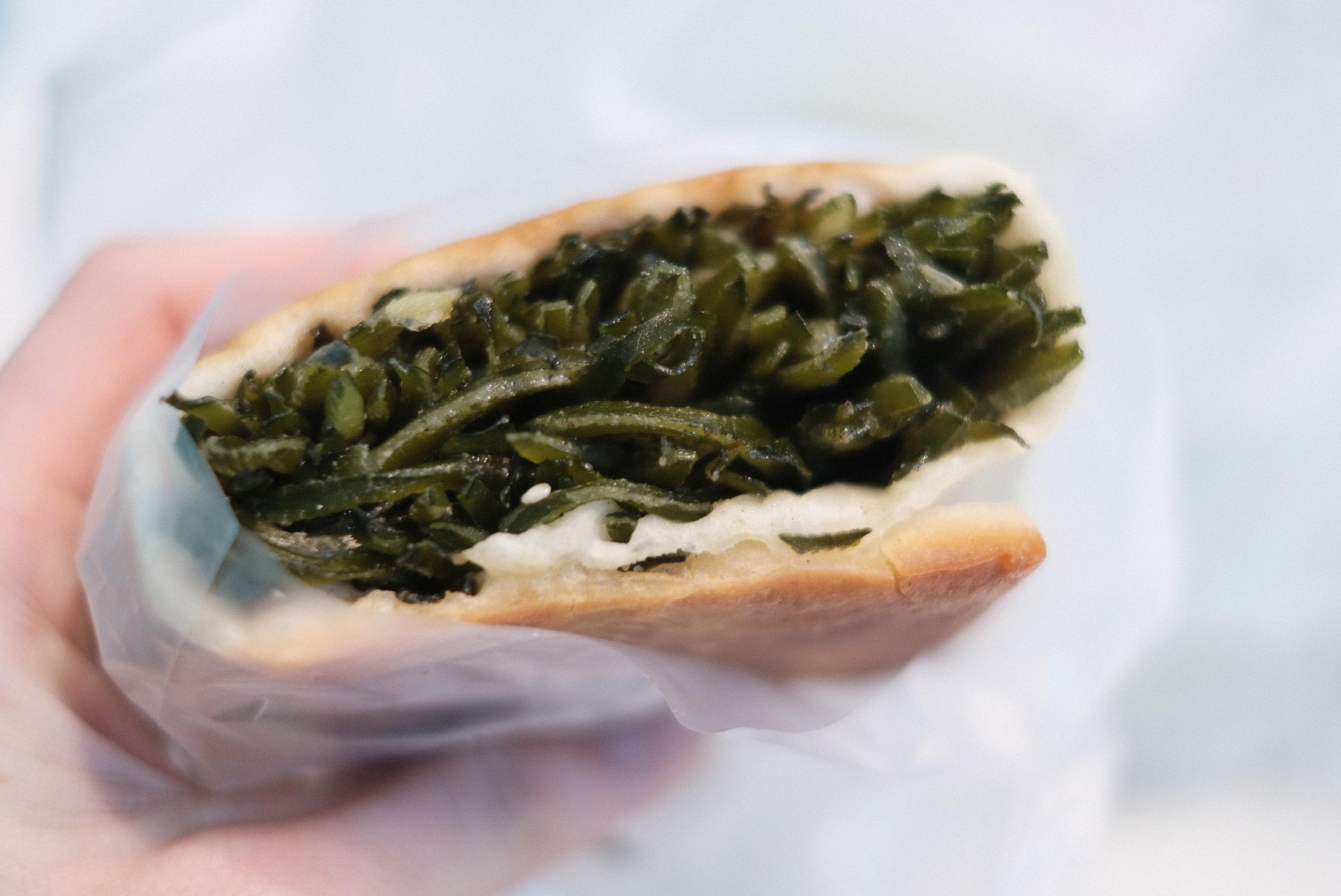Algae panini.