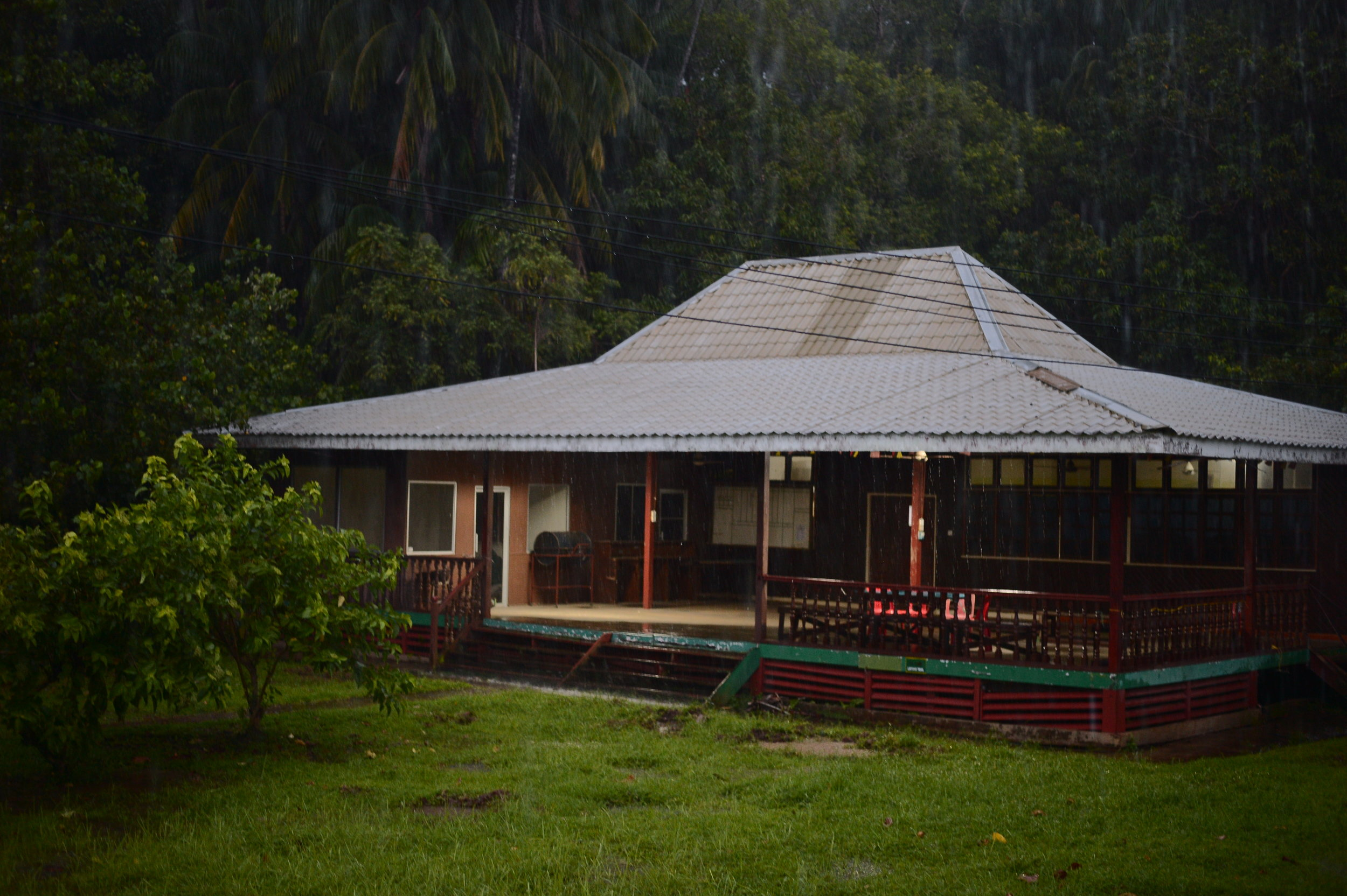 Our shack on Borneo island (the third biggest island in the world). $14CAD for the entire room (four beds, we used one.)