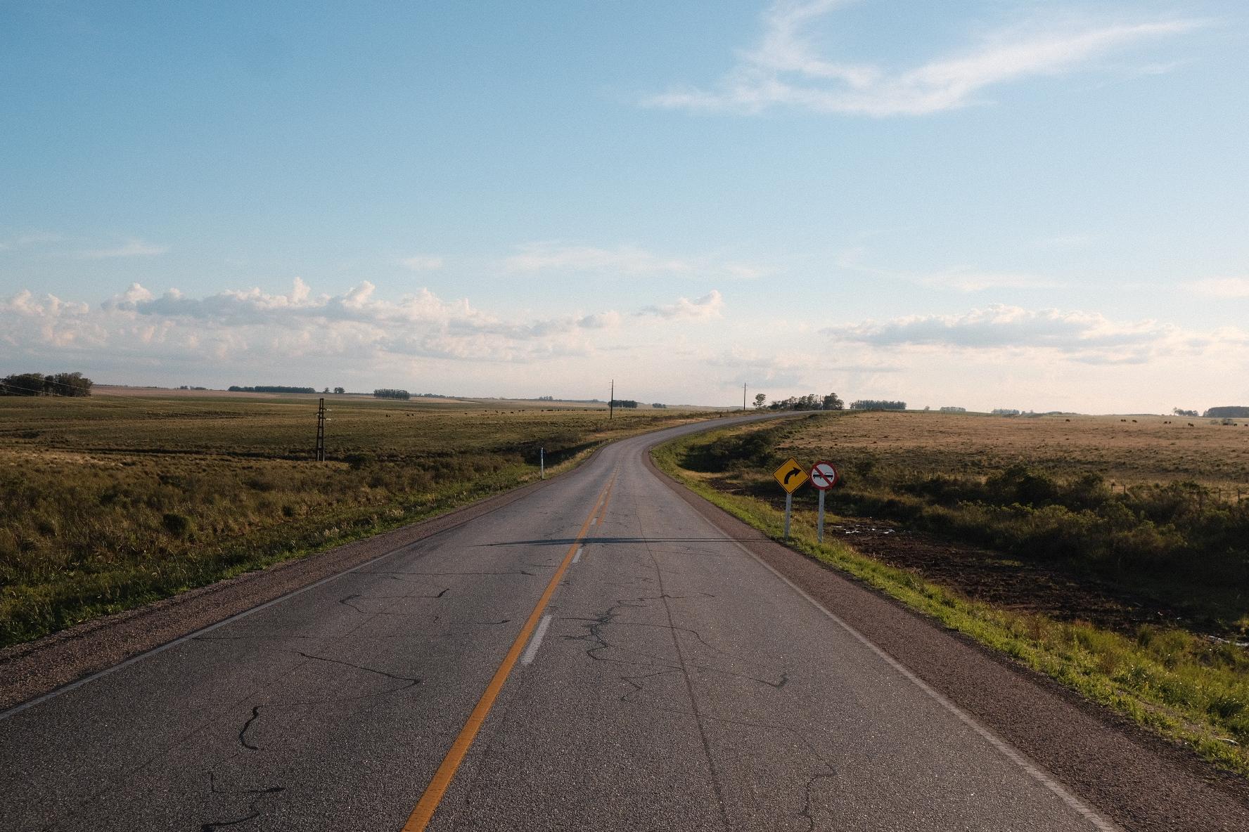 Driving on Uruguayense highways.