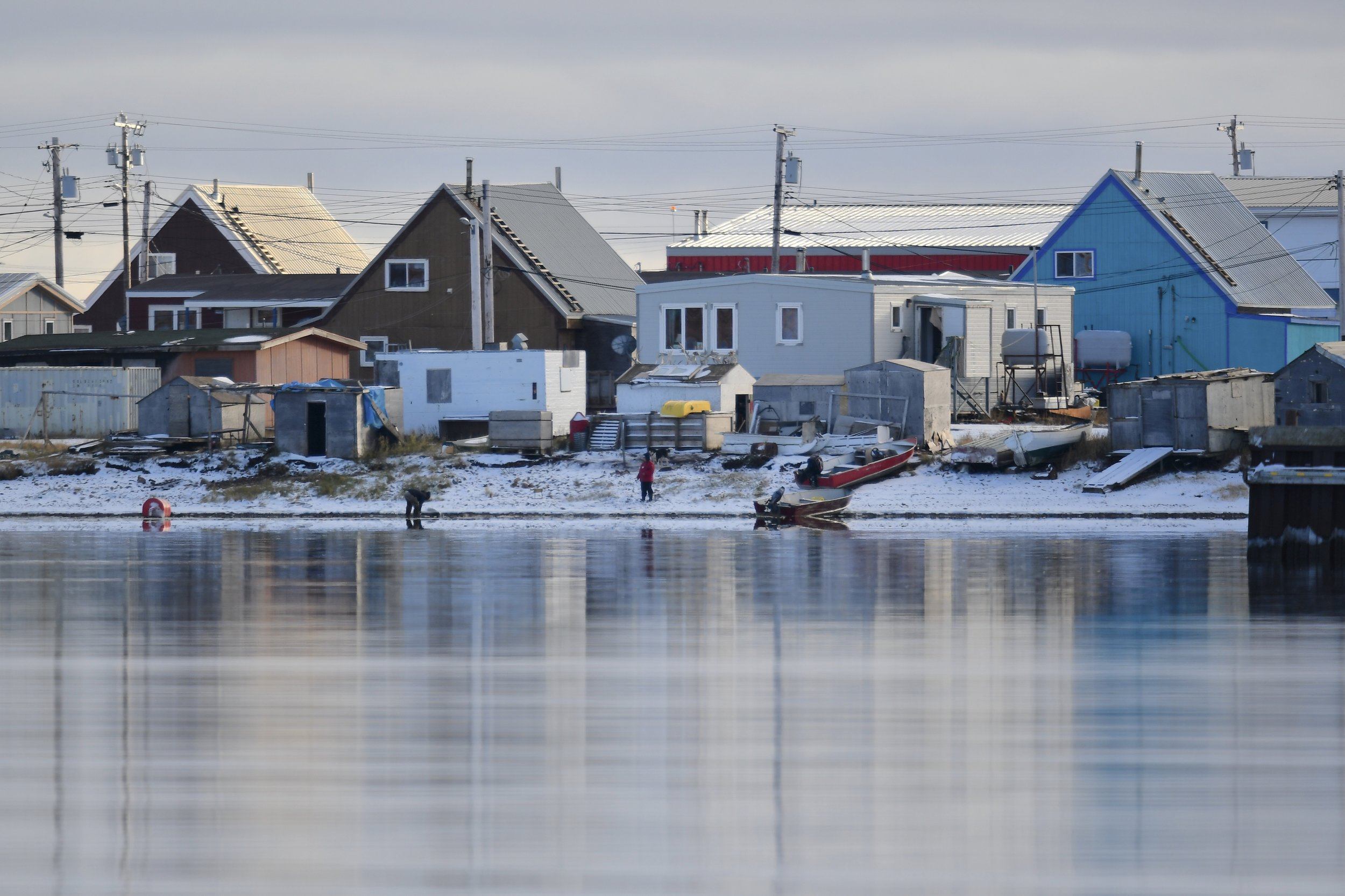 A small town by the Arctic Ocean.