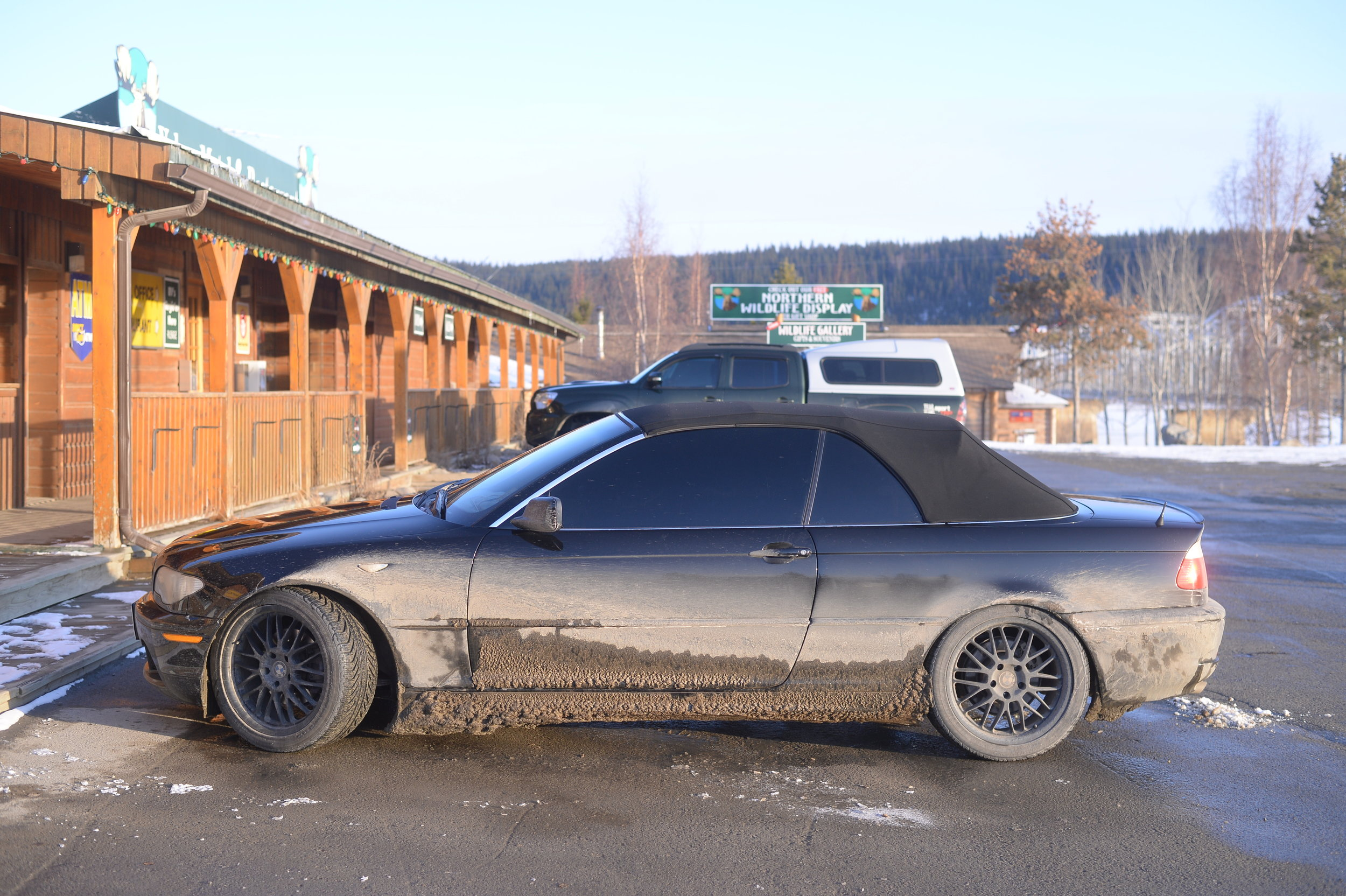 BMW at the end of the trip. Felt bad for the paint job.