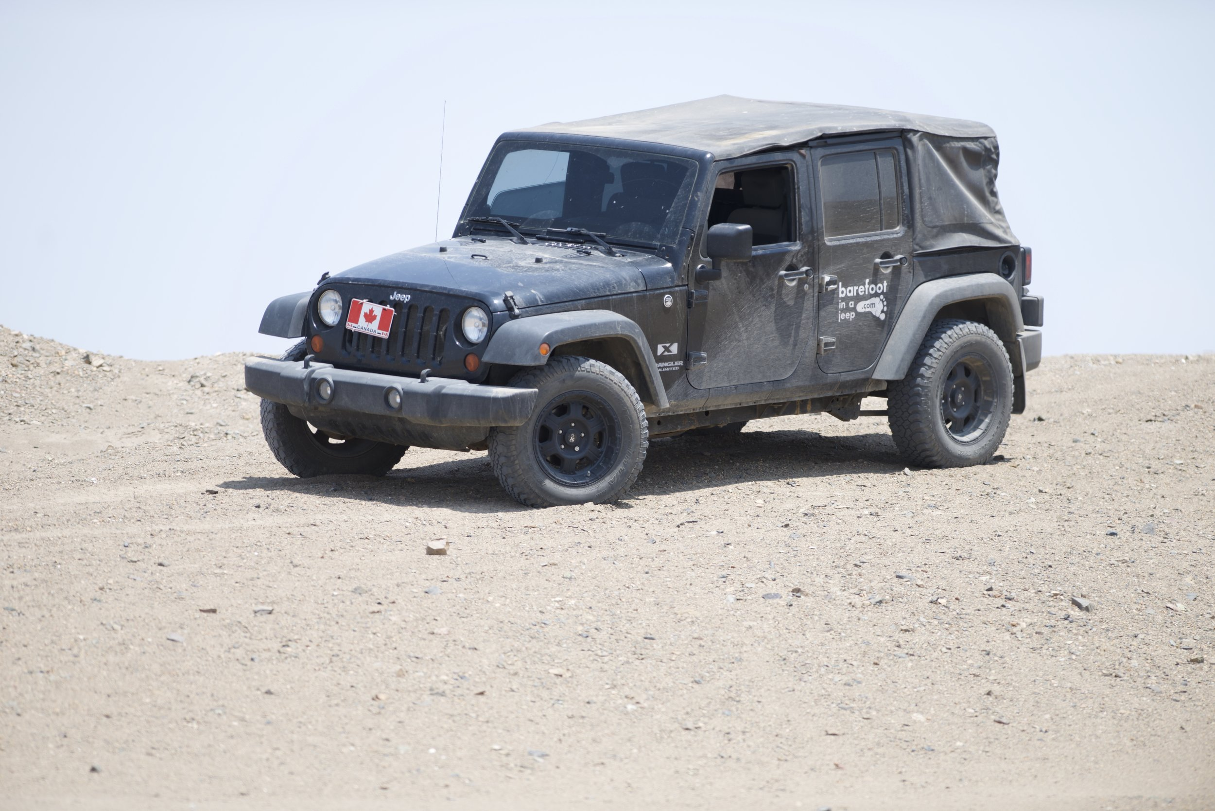 The Jeep is Peru. Peru is a great country to travel to. Sand dunes and the Andes cover the country. One can start is day by the beach and finish it in the snow at 3000 metres high.
