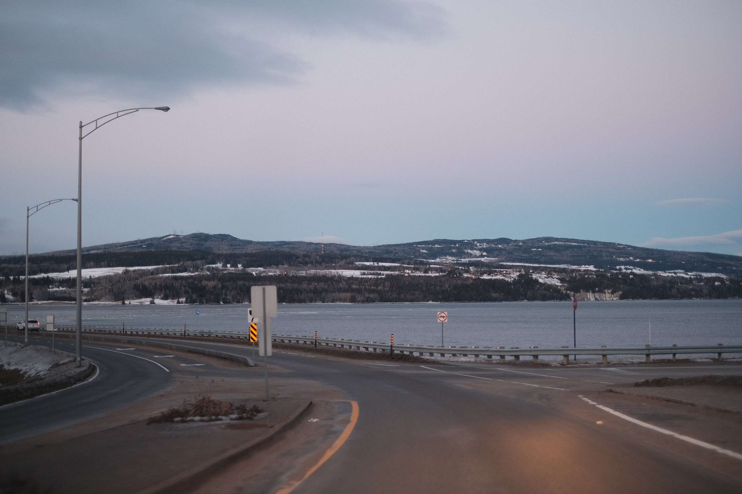 The St-Lawrence river in Quebec, near La Malbaie.